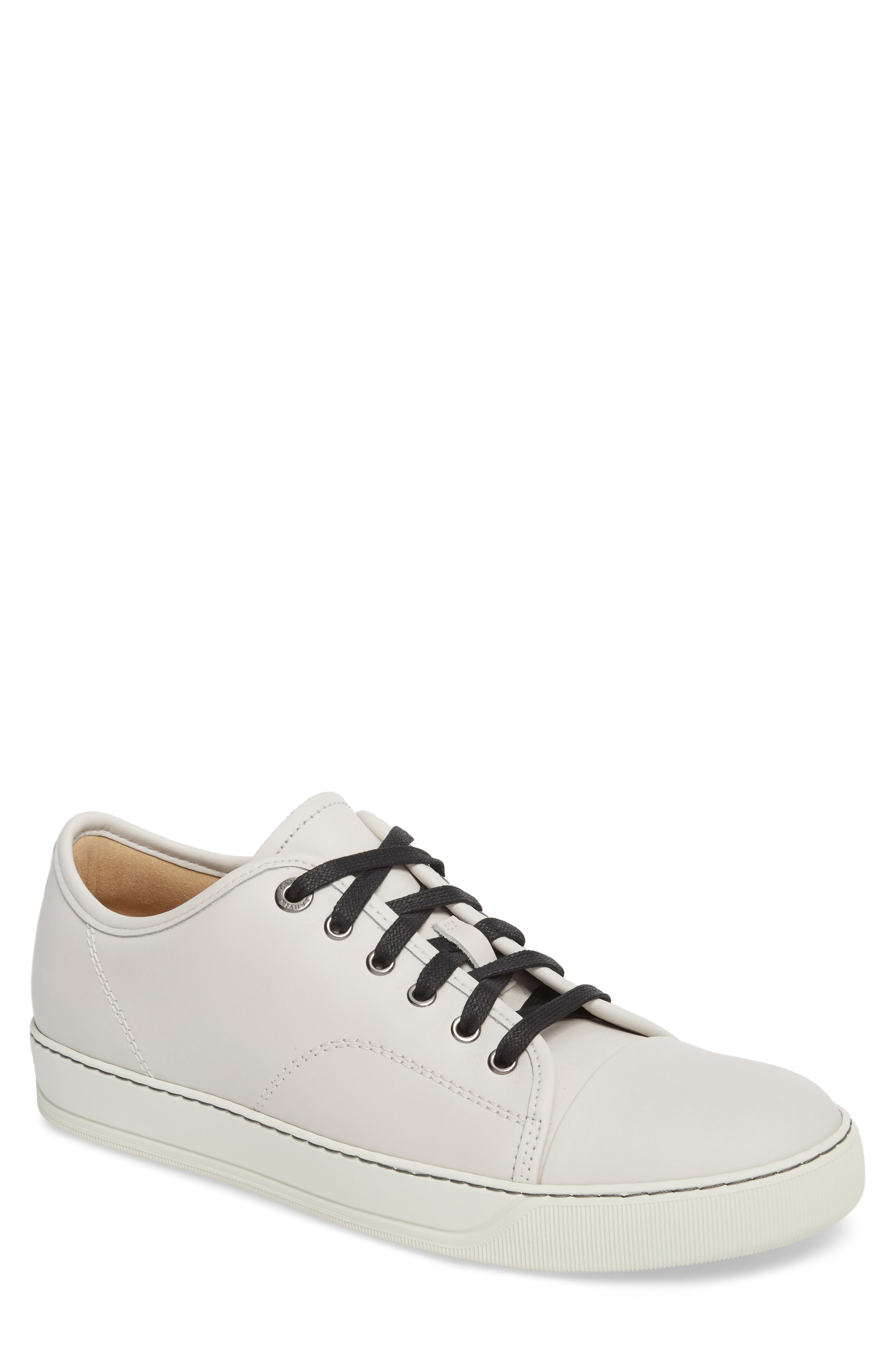 Low Top Sneaker,                         Main,                         color, Chalk Leather