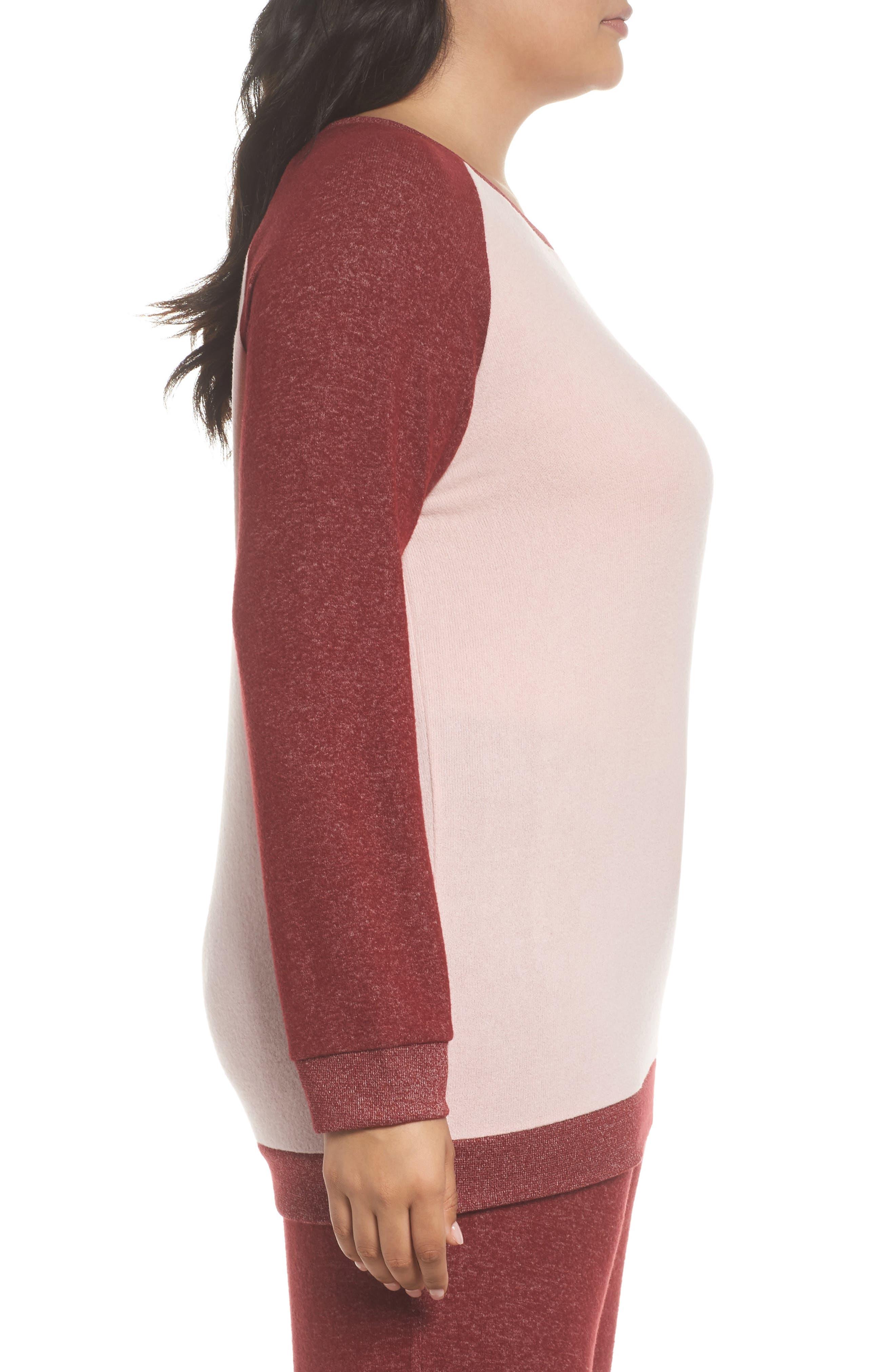 Alternate Image 3  - Make + Model Cozy Crew Lounge Sweater (Plus Size)