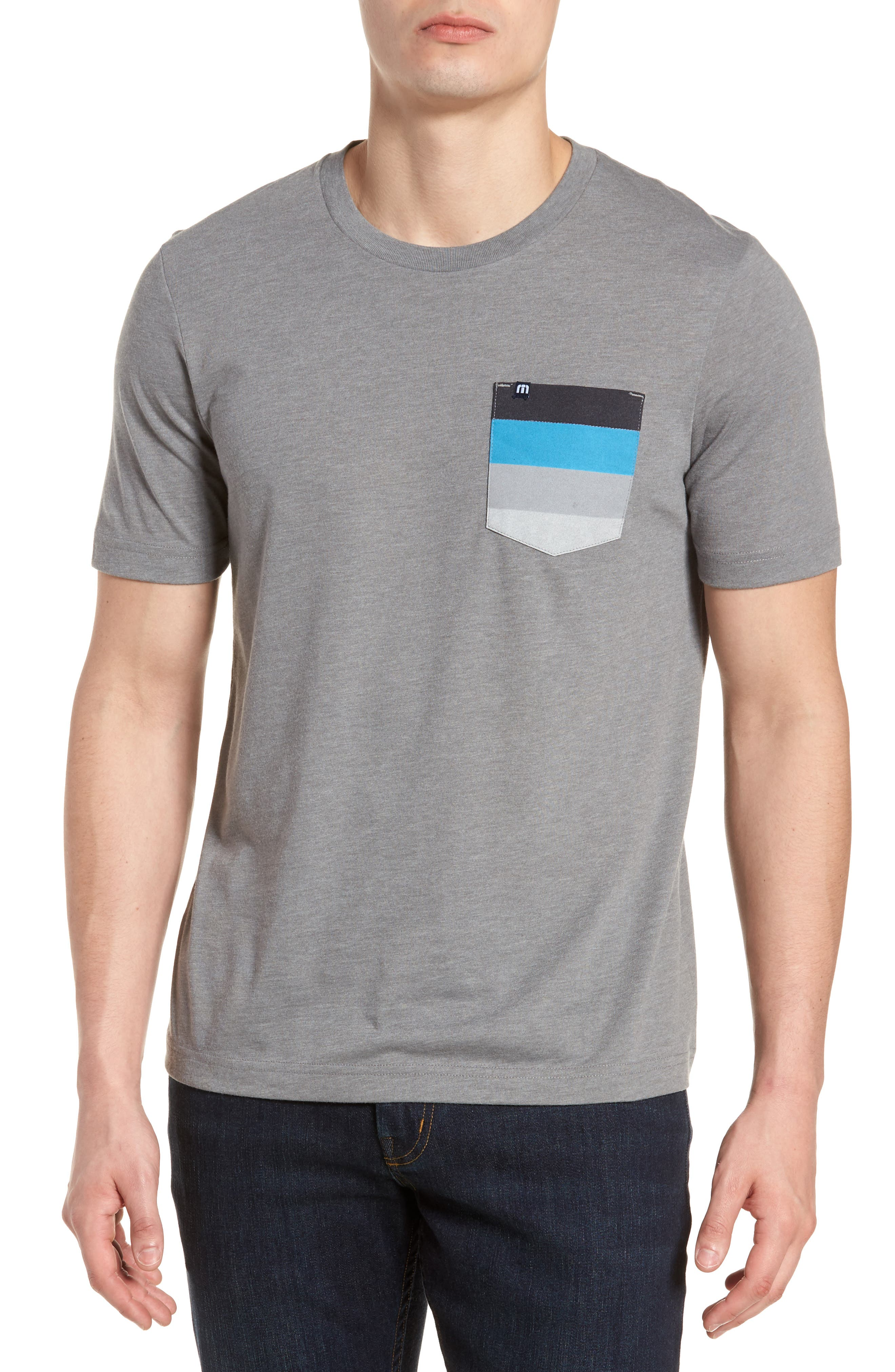 Chappy Doo Pocket T-Shirt,                             Main thumbnail 1, color,                             Heather Grey