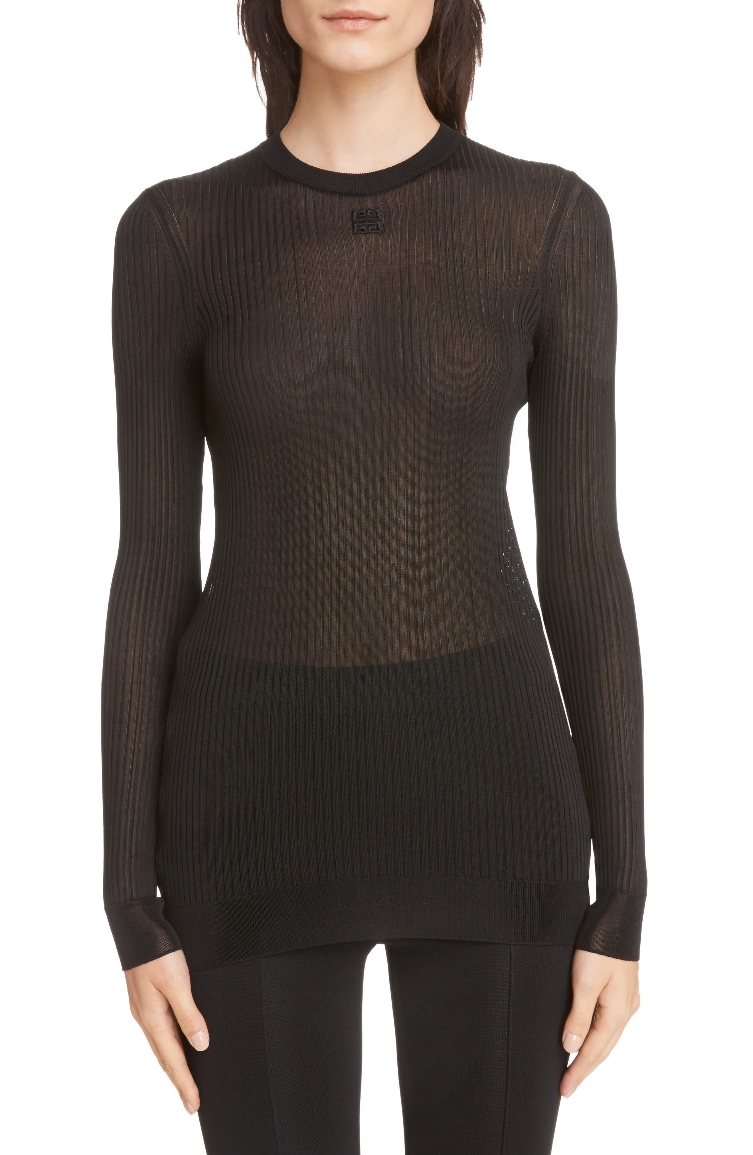 Givenchy Sheer Ribbed Top