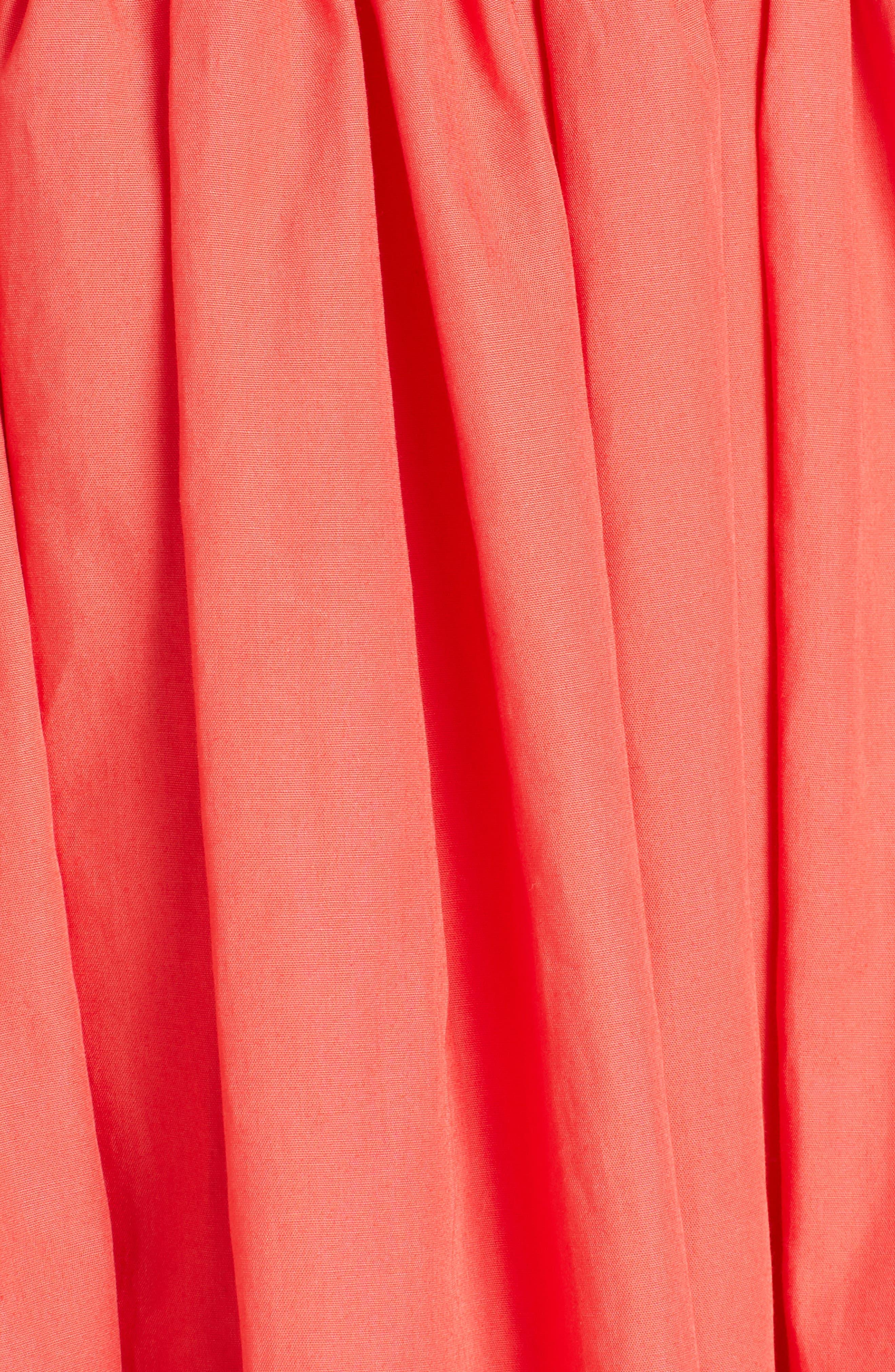 Alternate Image 5  - Fendi Cold Shoulder Taffeta Midi Dress
