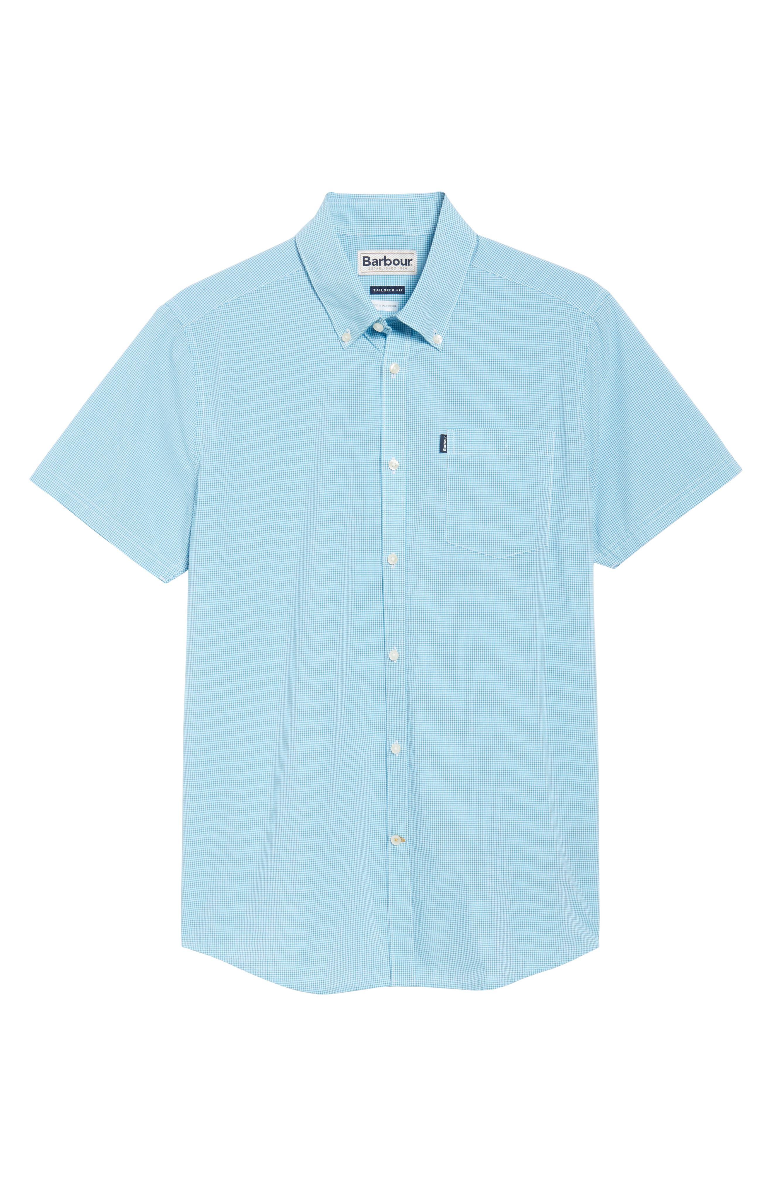 Triston Regular Fit Check Sport Shirt,                             Alternate thumbnail 6, color,                             Turquoise