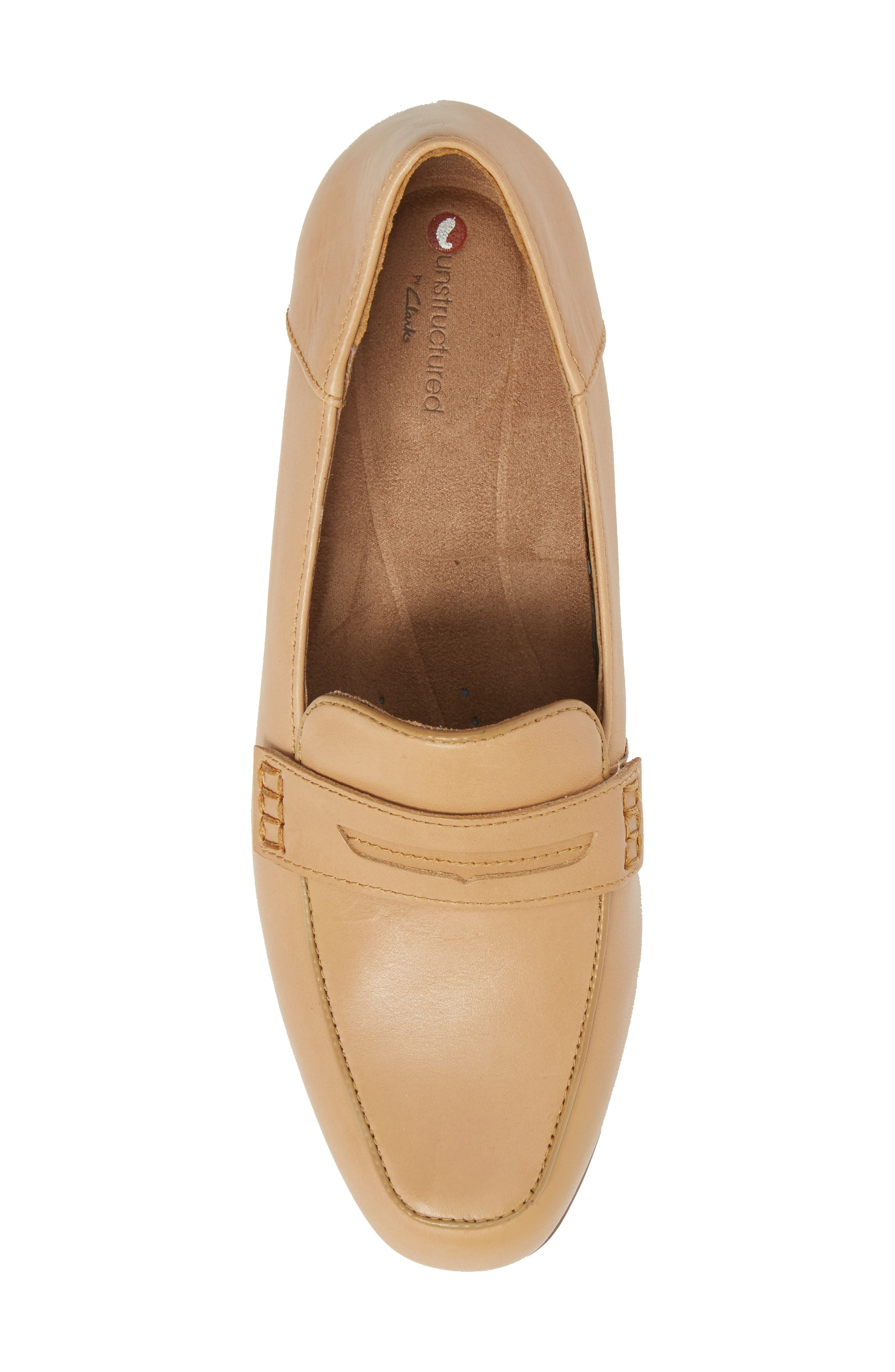 Keesha Cora Penny Loafer,                             Alternate thumbnail 5, color,                             Light Tan Leather
