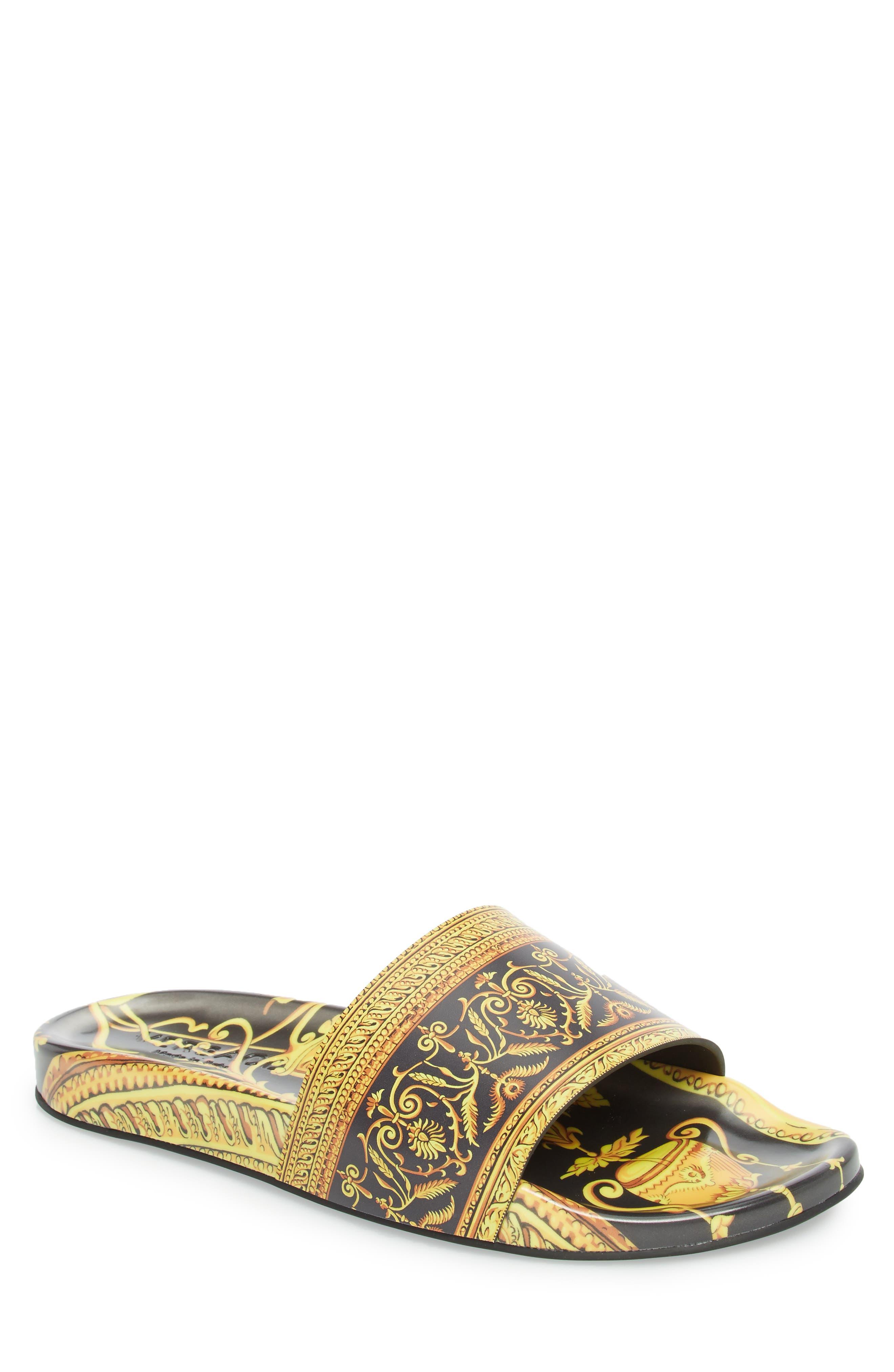 Main Image - Versace First Line Archive Frames Slide Sandal (Men)