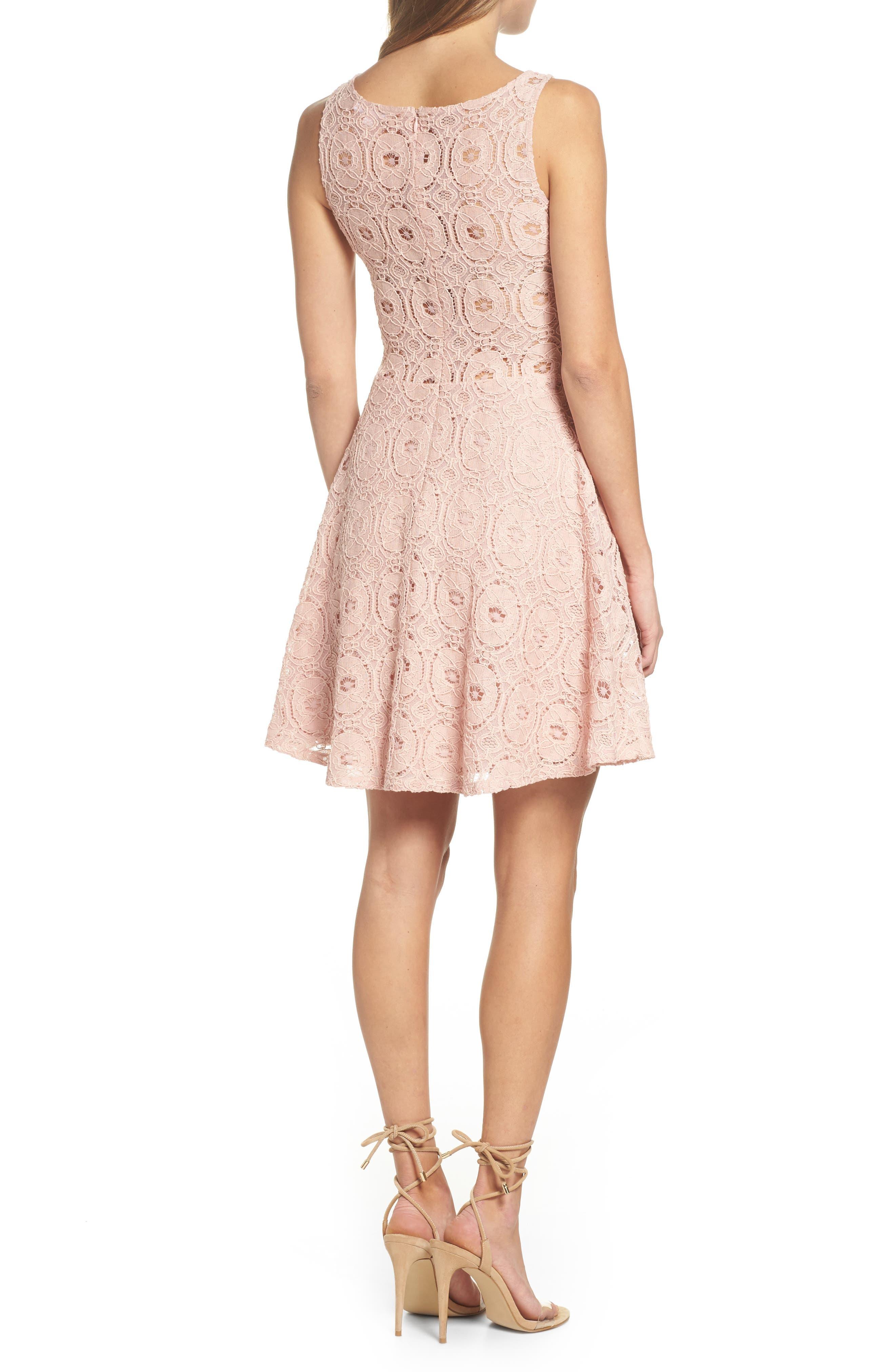 Alternate Image 2  - BB Dakota 'Renley' Lace Fit & Flare Dress (Nordstrom Exclusive)