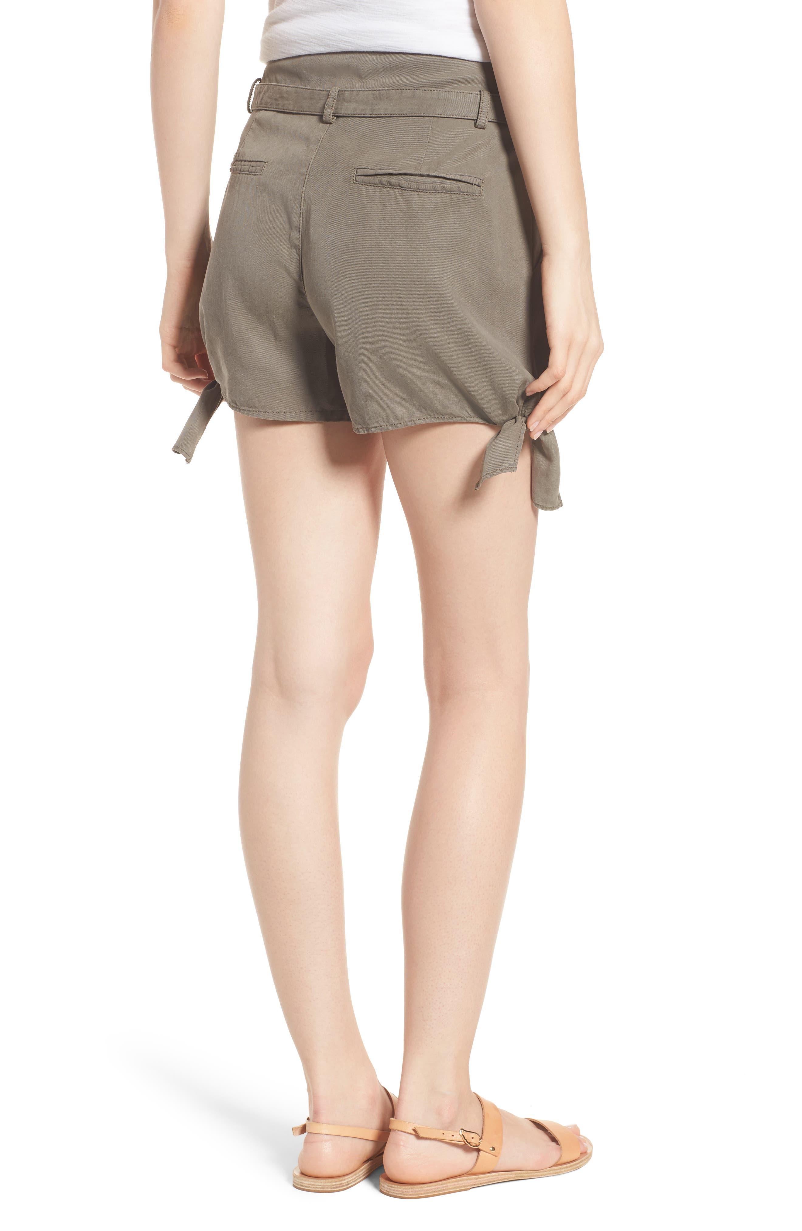 Alternate Image 2  - PAIGE Claudette Tie Hem Shorts
