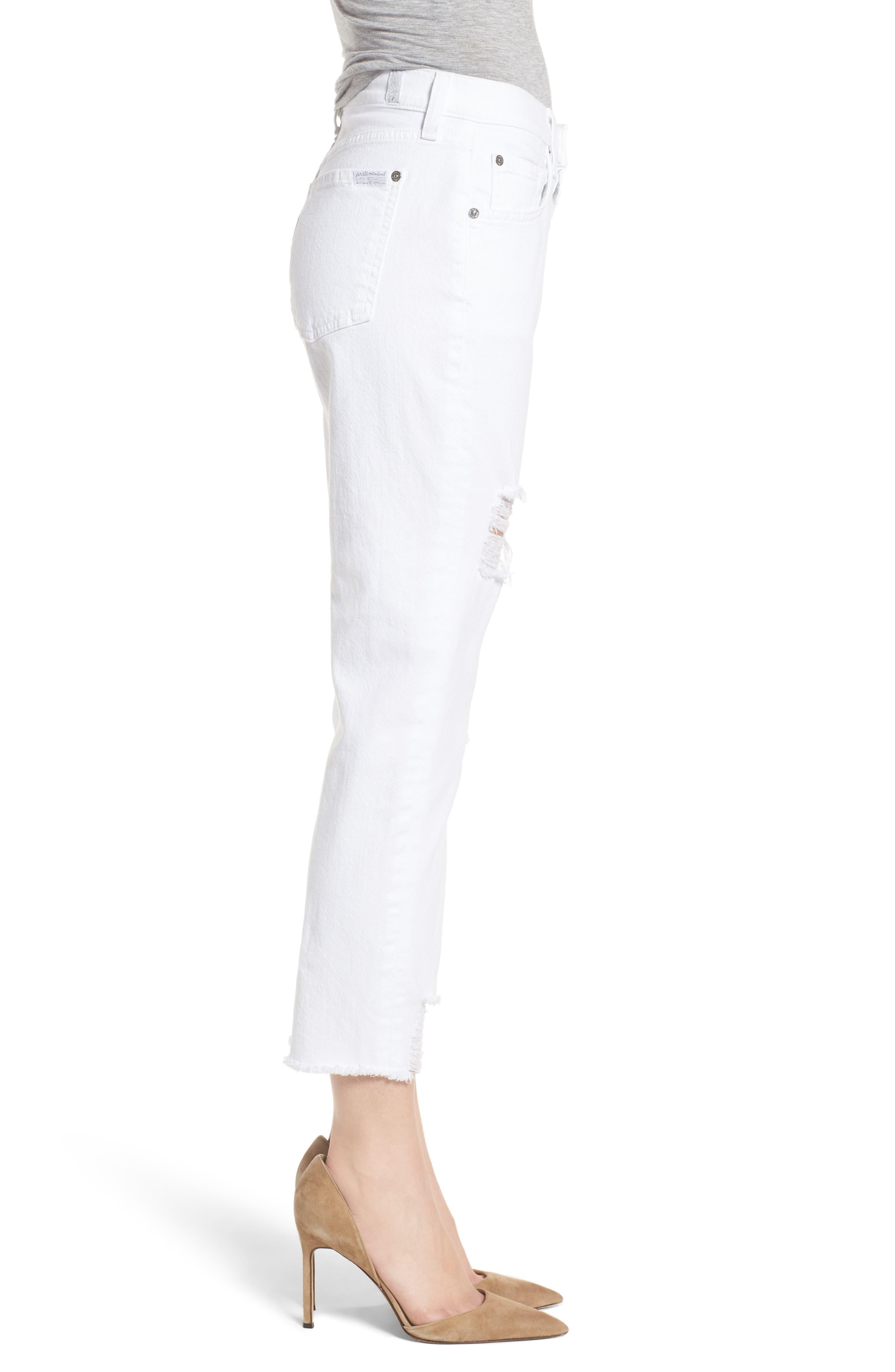 Josefina High Waist Boyfriend Jeans,                             Alternate thumbnail 3, color,                             White Fashion 2