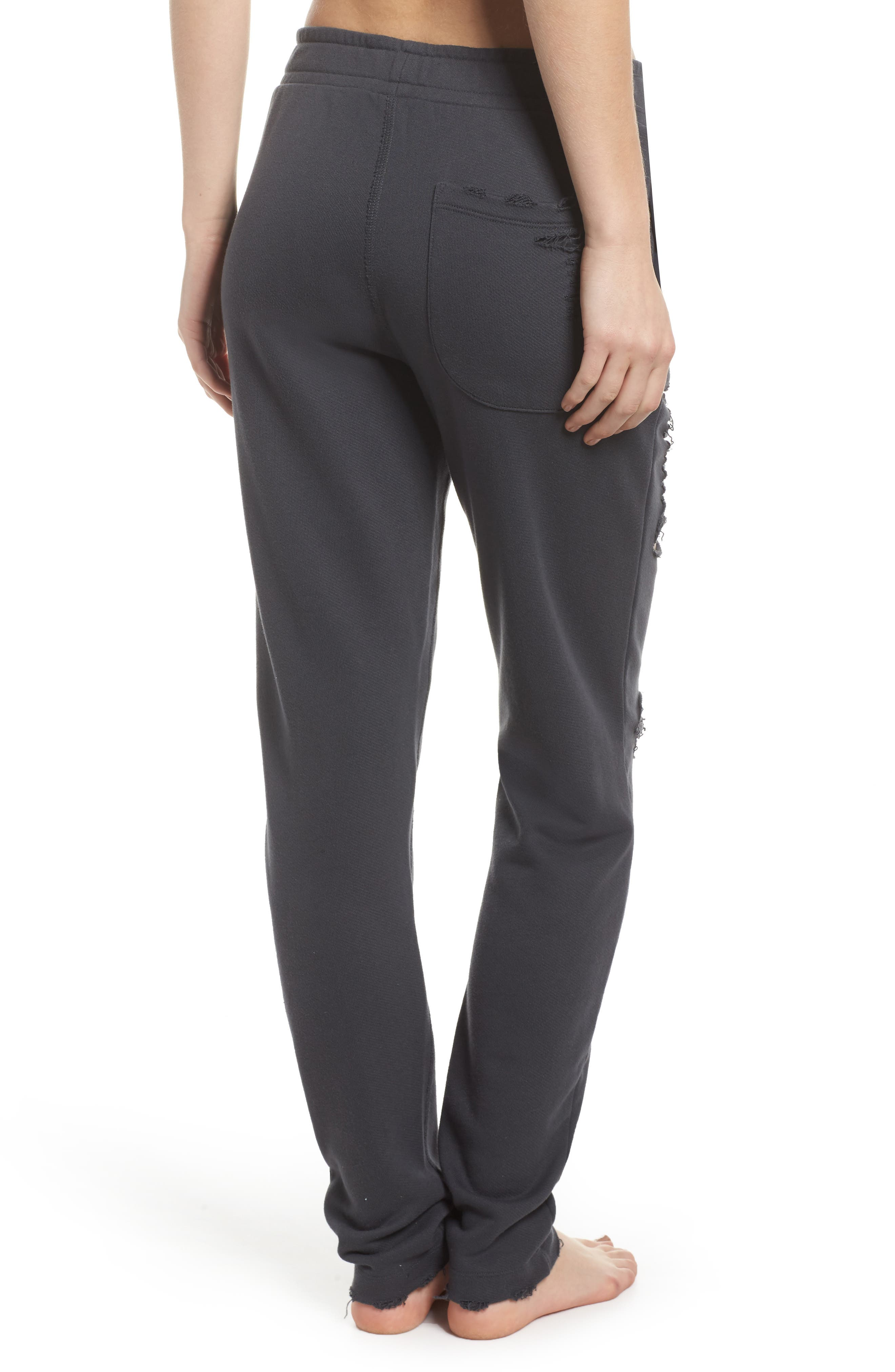 Ripped Sweatpants,                             Alternate thumbnail 2, color,                             Anthracite