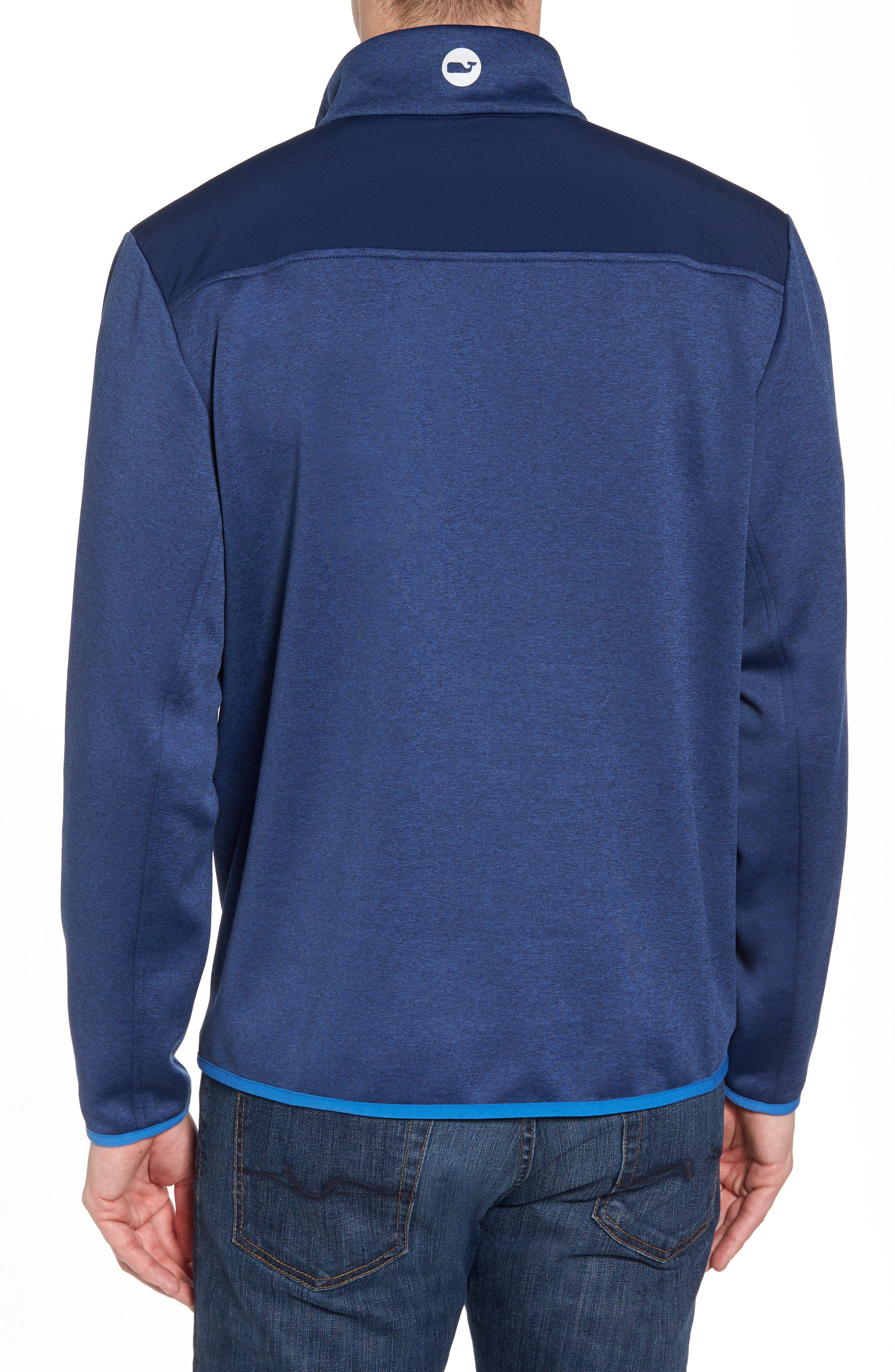 Shep Performance Fleece Quarter Zip Pullover,                             Alternate thumbnail 2, color,                             Deep Bay