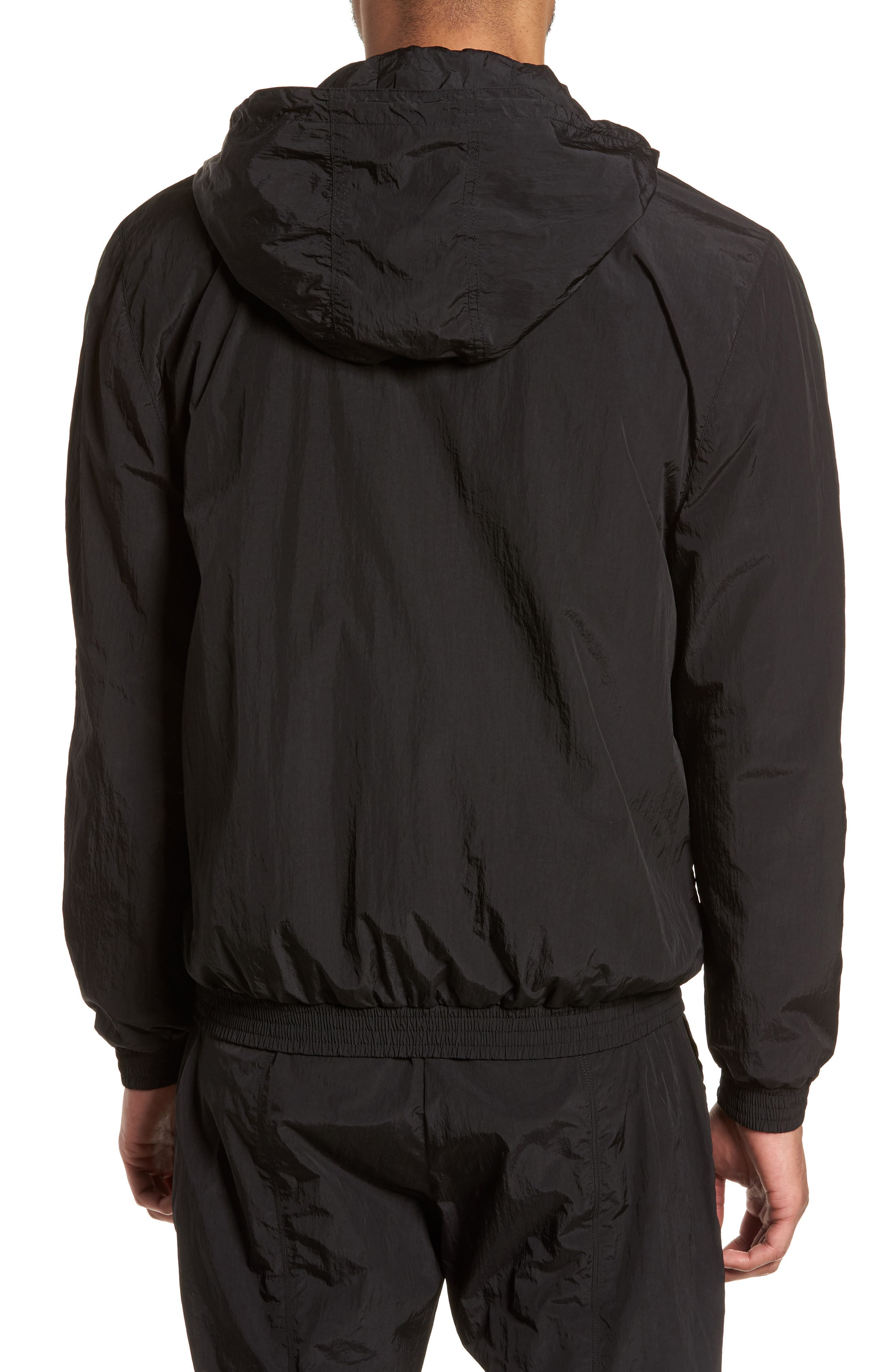 Hooded Shell Jacket,                             Alternate thumbnail 2, color,                             Black/ Deep Forest