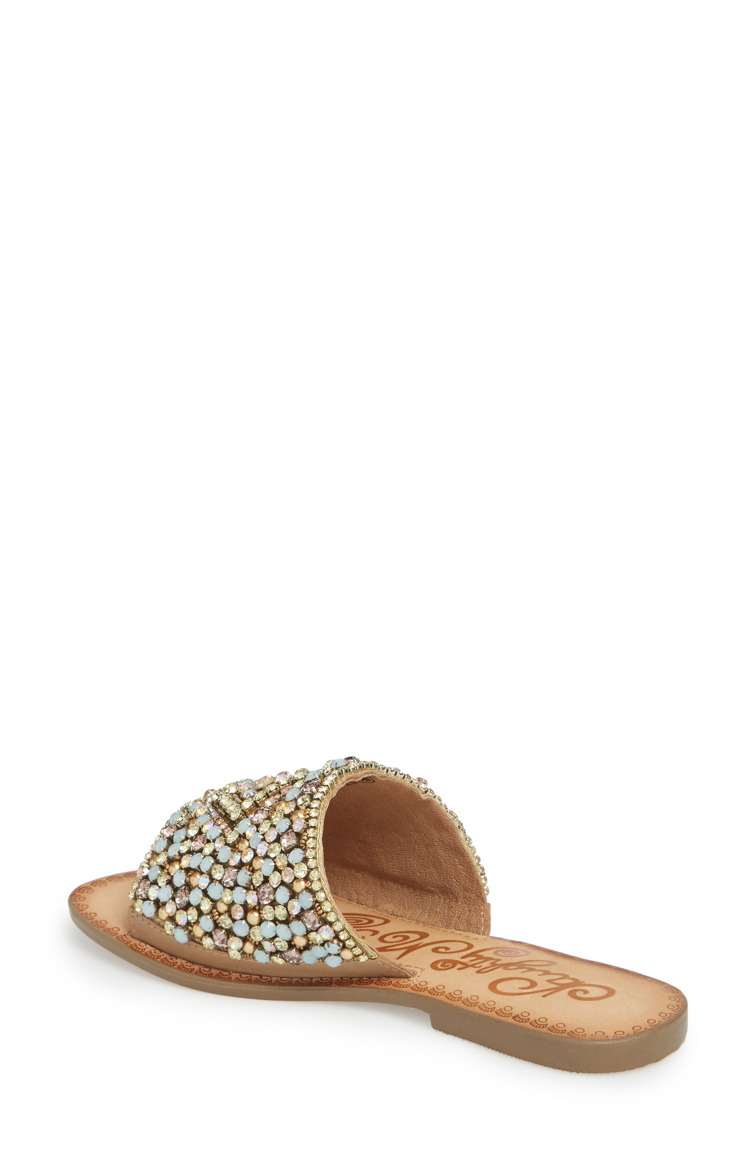 Susanna Embellished Slide Sandal,                             Alternate thumbnail 2, color,                             Multi Leather