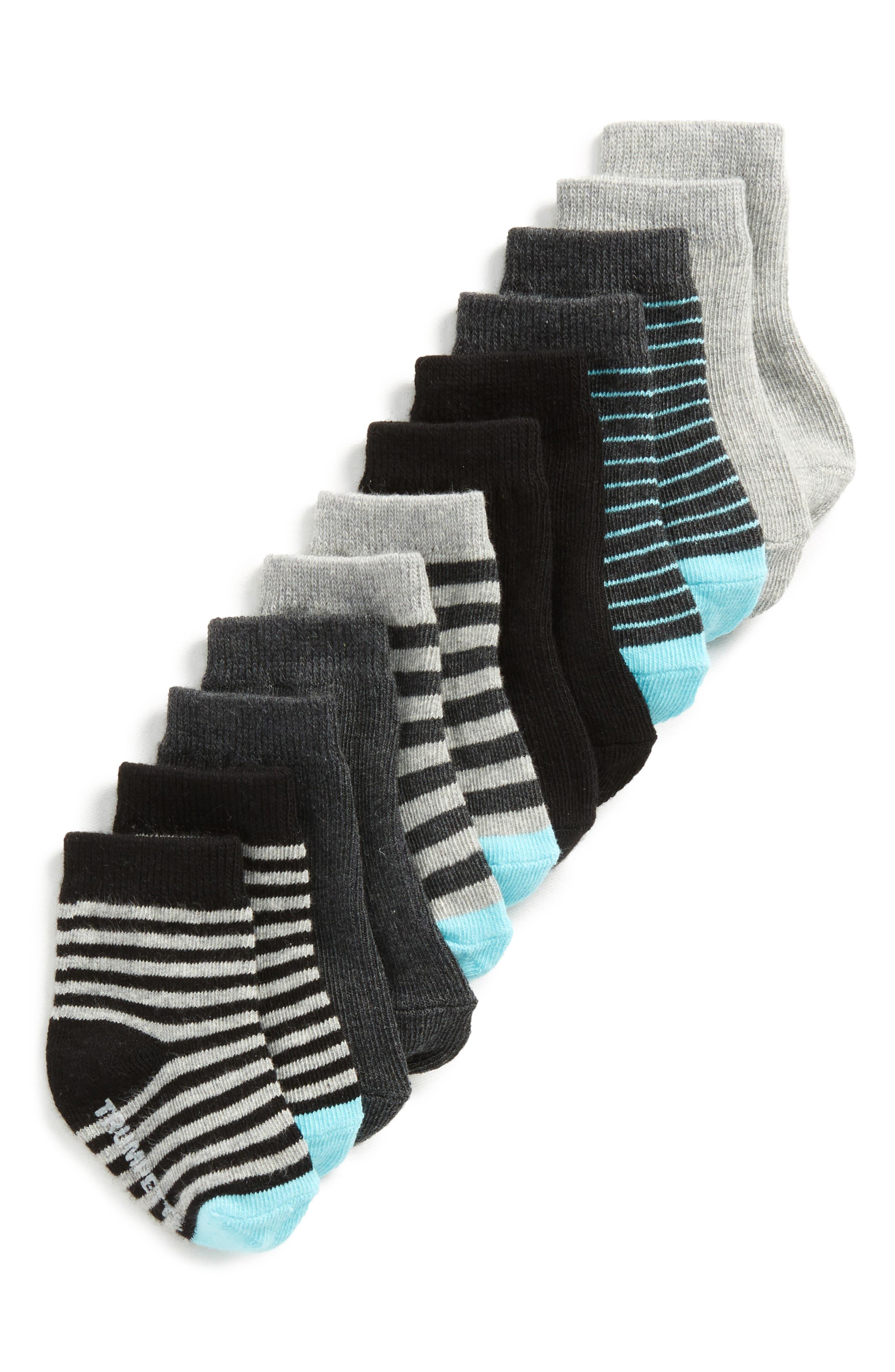 Alternate Image 1 Selected - Trumpette Finn 6-Pack Socks (Baby)