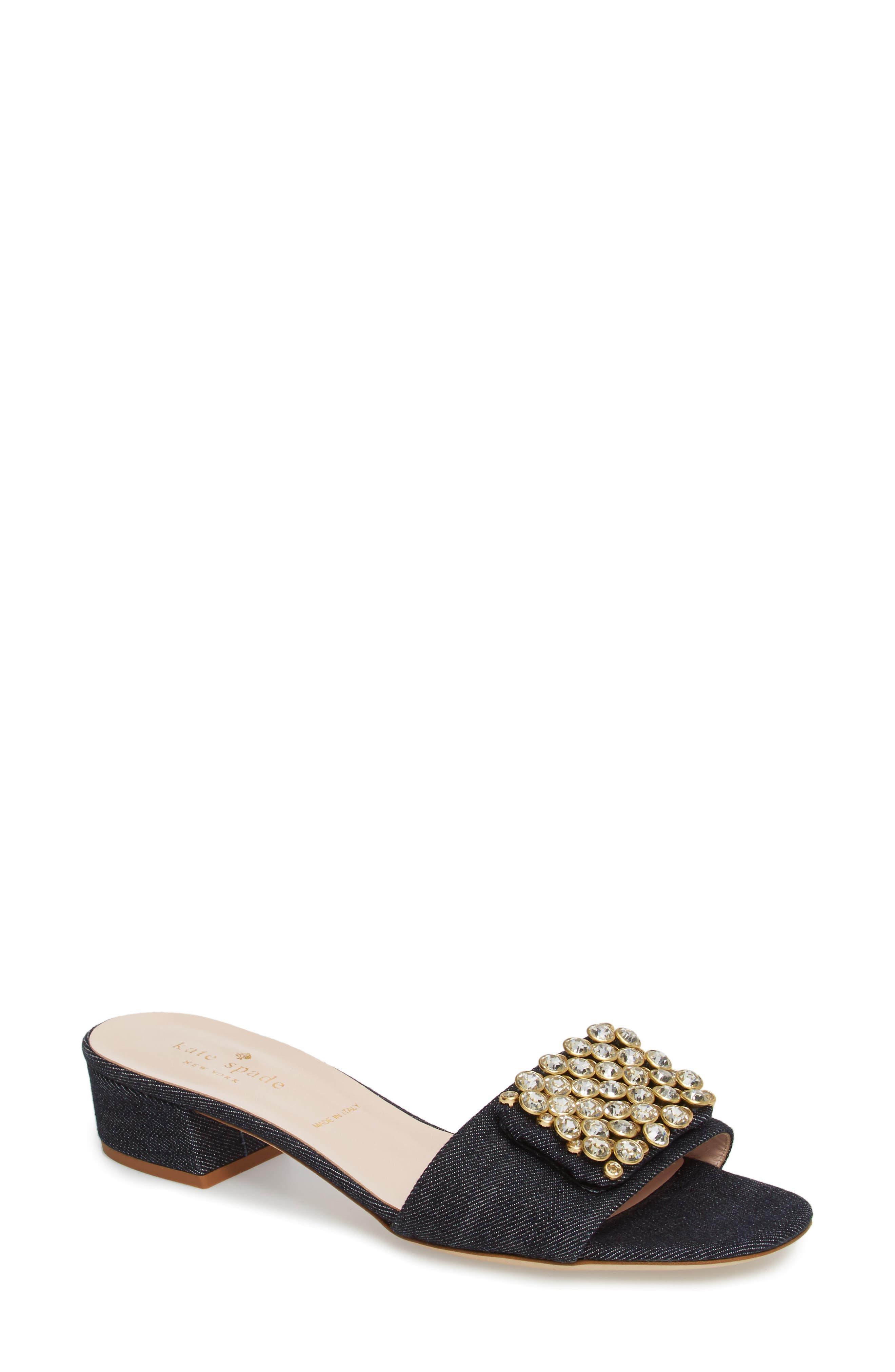 kate spade new york mazie crystal embellished slide sandal (Women)