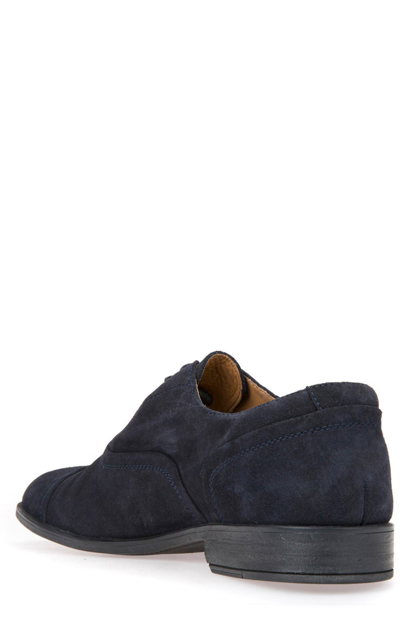 Bryceton 2 Cap Toe Oxford,                             Alternate thumbnail 2, color,                             Navy Suede