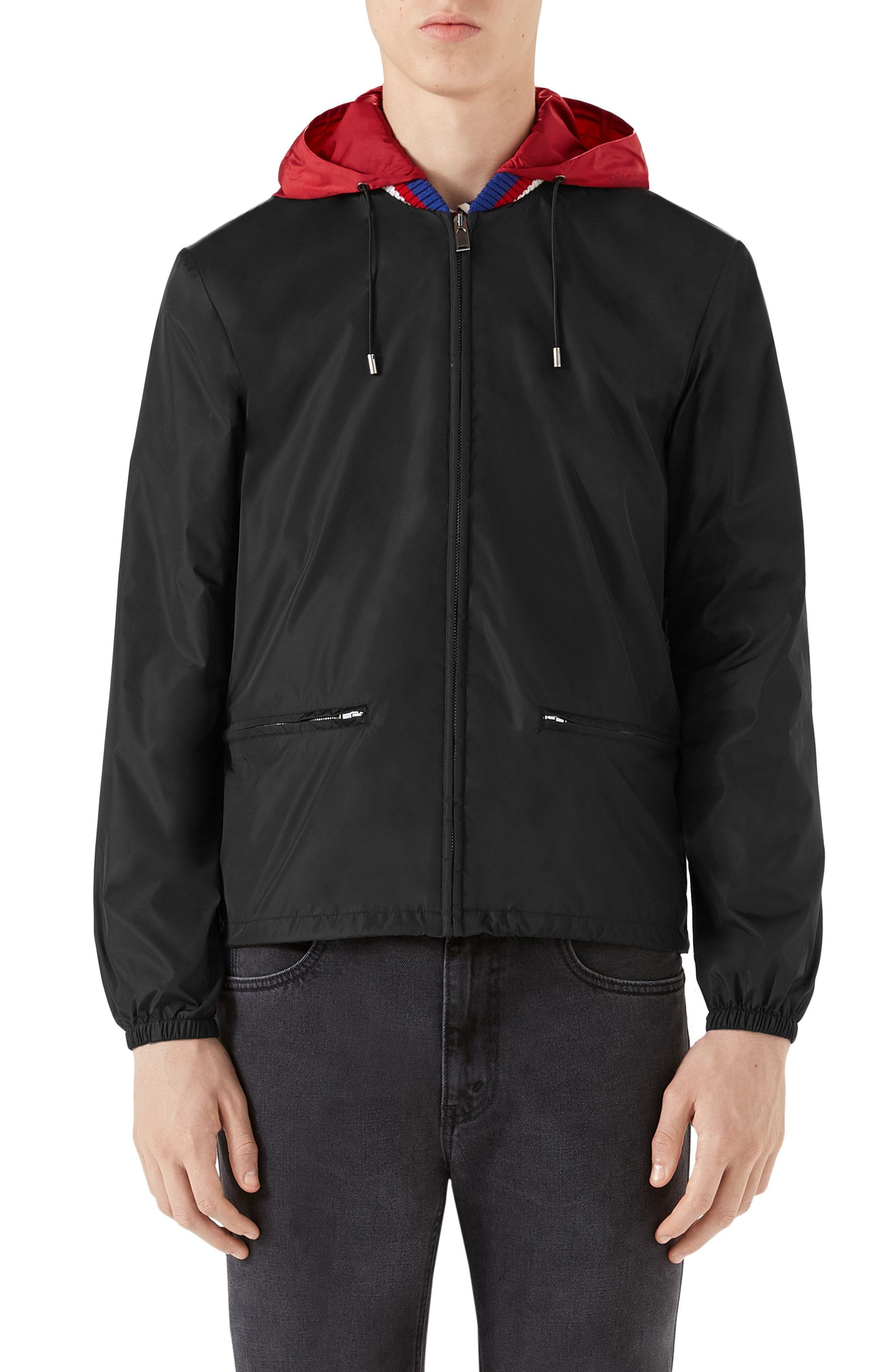 Gucci Track Jacket with Detachable Hood
