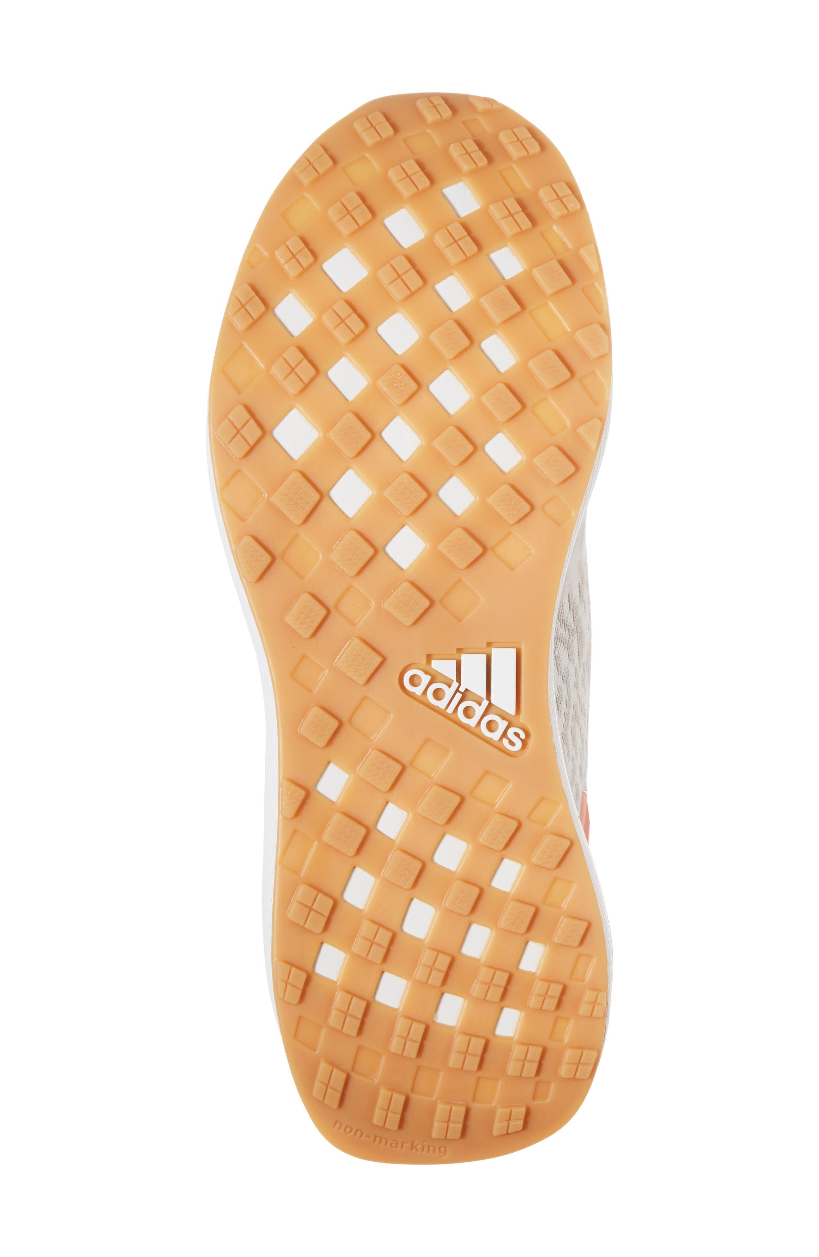 RapidaRun Uncaged Sneaker,                             Alternate thumbnail 6, color,                             White / Pearl/ Coral