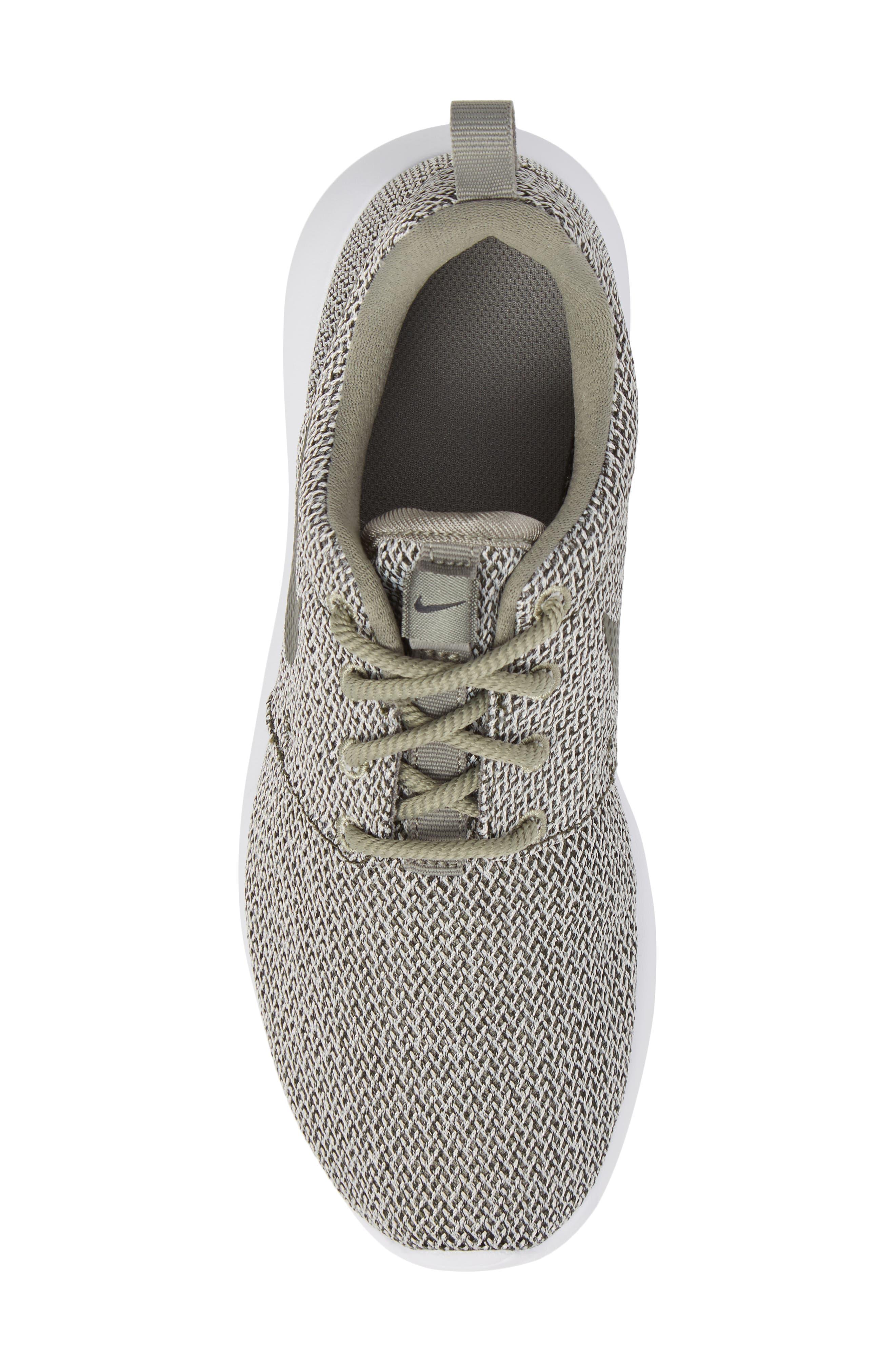 'Roshe Run' Sneaker,                             Alternate thumbnail 6, color,                             Dark Stucco/ Sequoia/ Bone