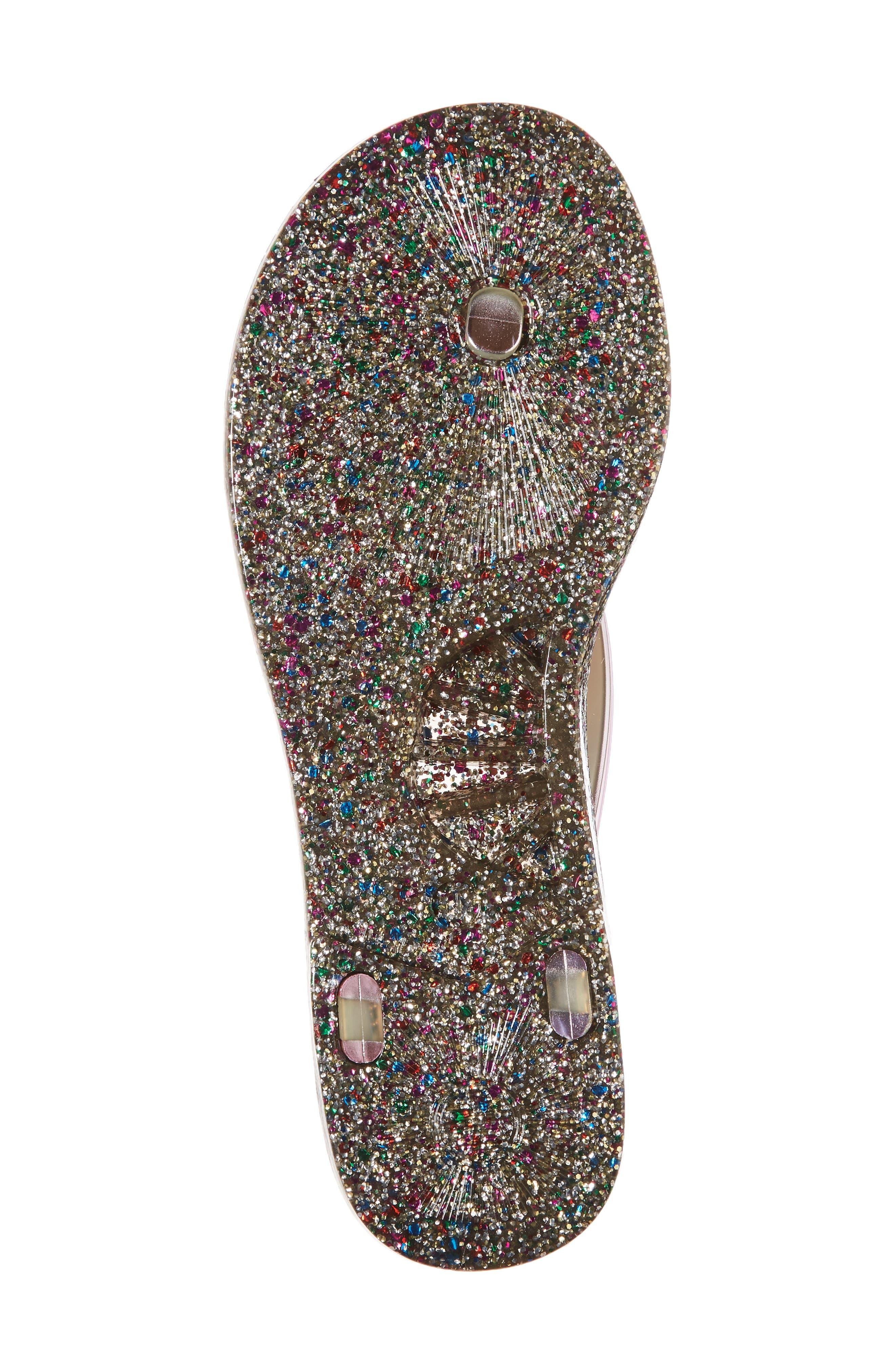 follie glitter flip flop,                             Alternate thumbnail 6, color,                             Fuchsia Specchio
