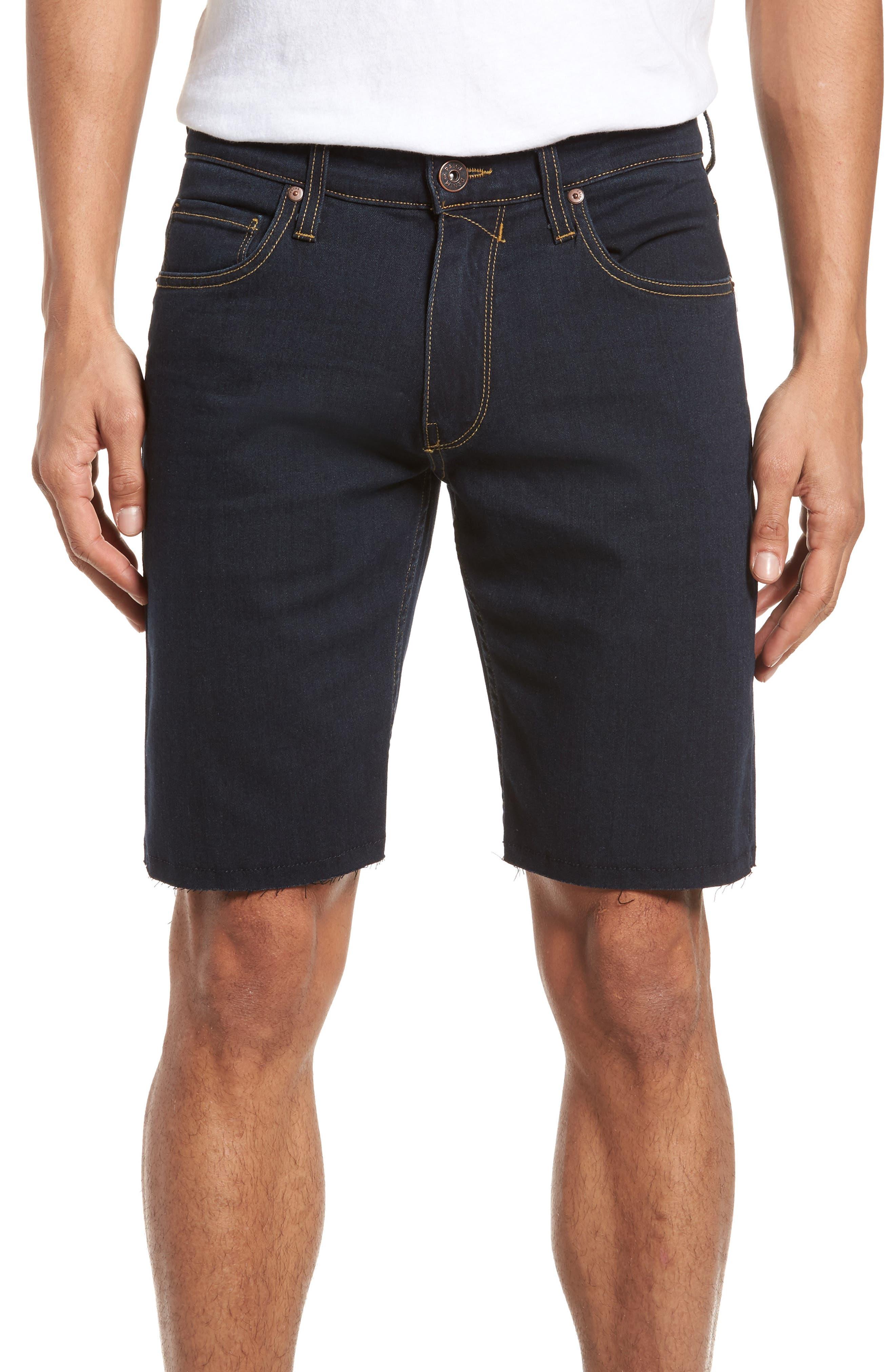 PAIGE Transcend - Federal Slim Straight Leg Denim Shorts (Ames)