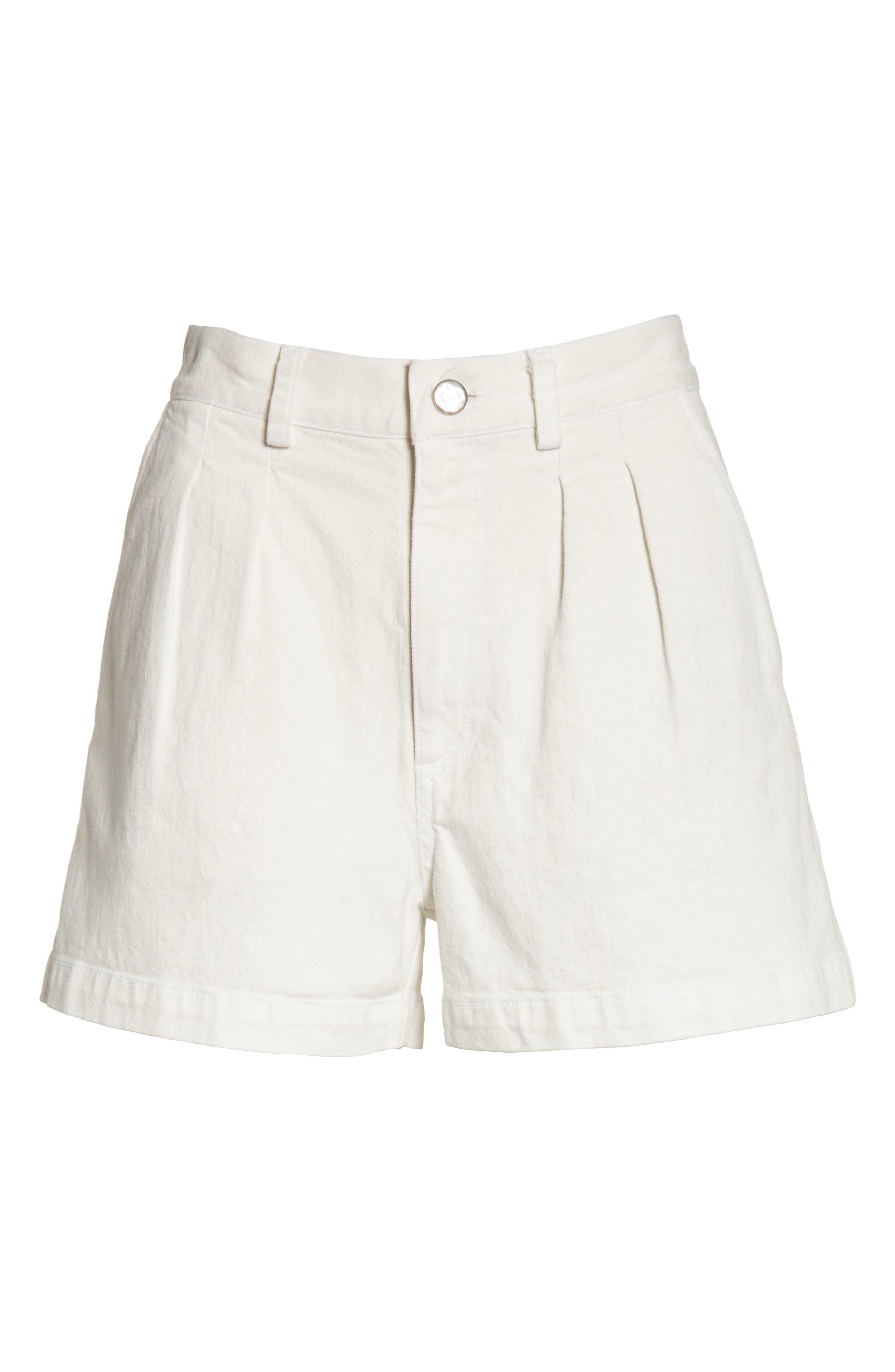 Daft Denim Shorts,                             Alternate thumbnail 6, color,                             Dirty White