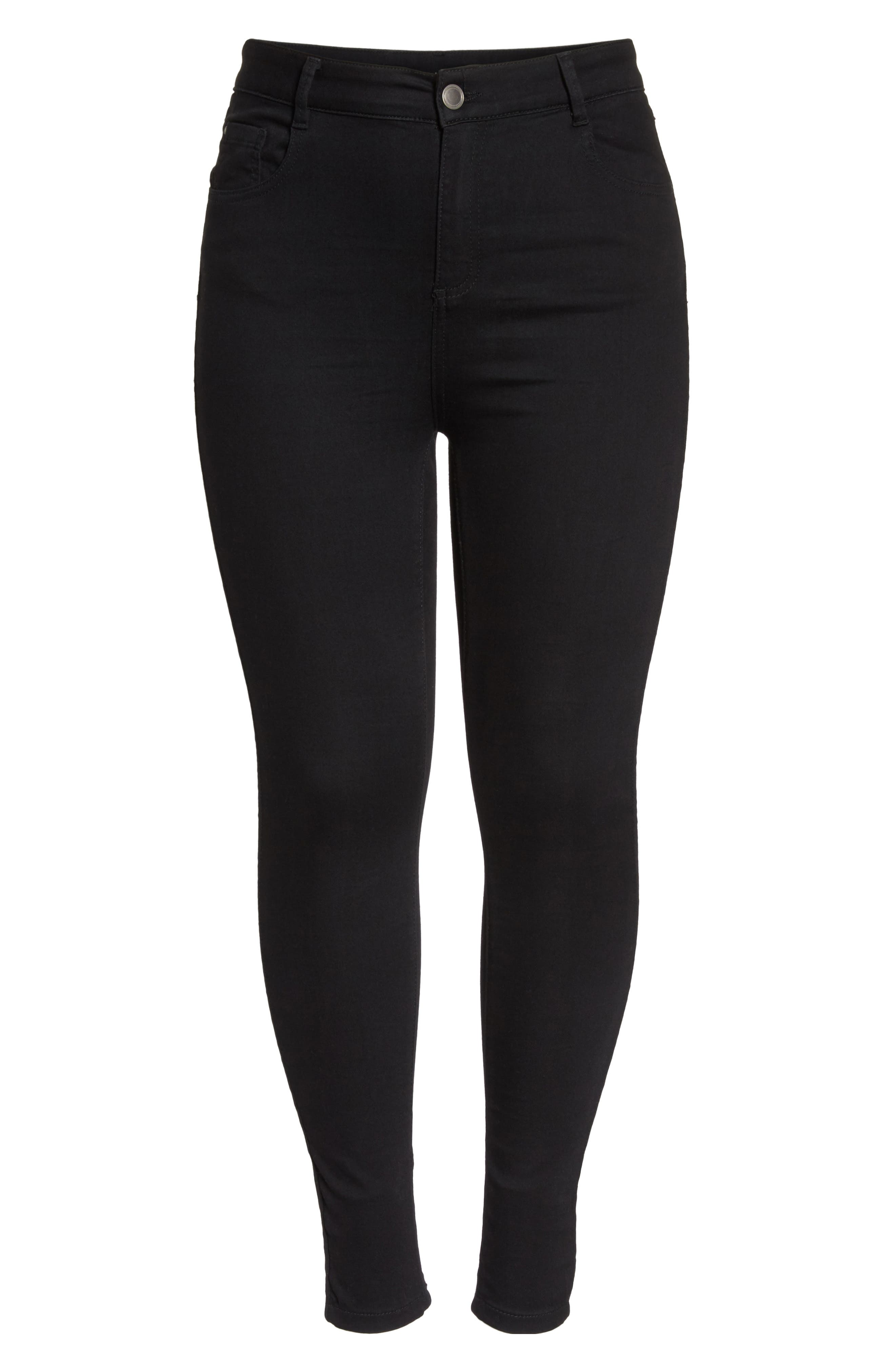 Skinny Jeans,                             Alternate thumbnail 6, color,                             Black
