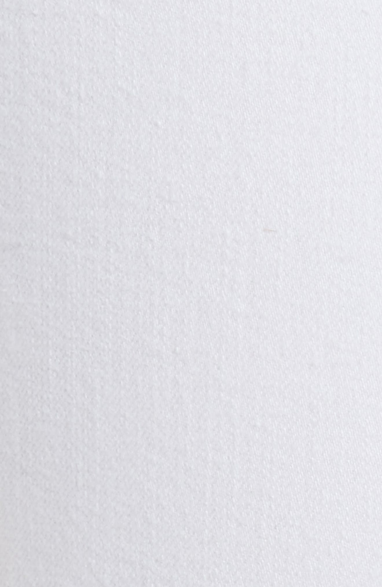 High Waist Ankle Skinny Jeans,                             Alternate thumbnail 5, color,                             White Manson