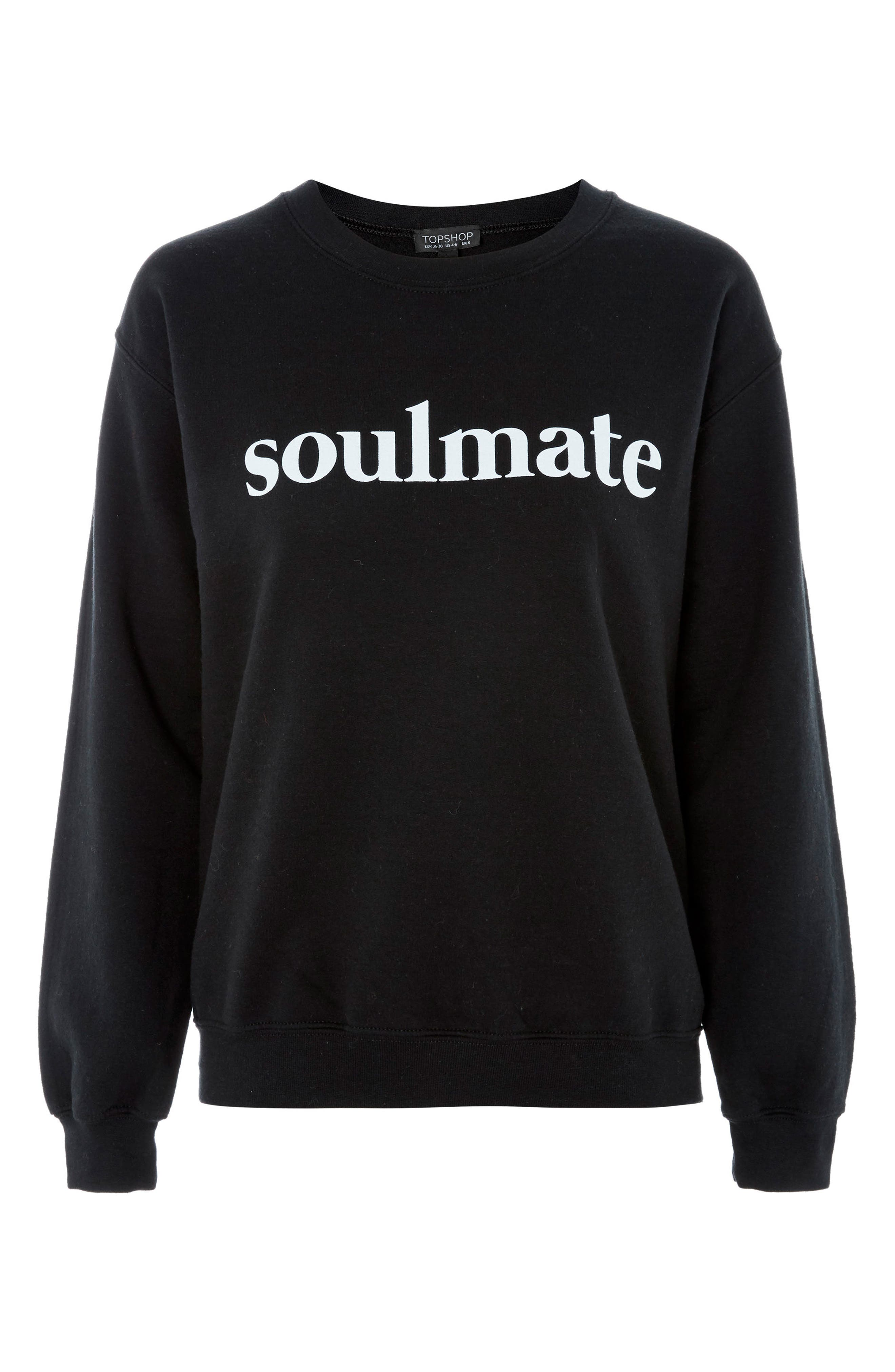 Soulmate Graphic Sweatshirt,                             Main thumbnail 1, color,                             Black Multi
