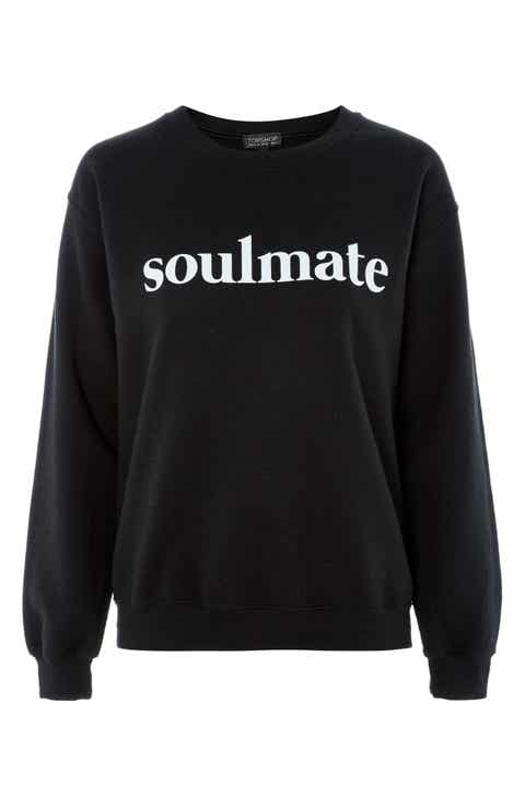 Topshop Soulmate Graphic Sweatshirt