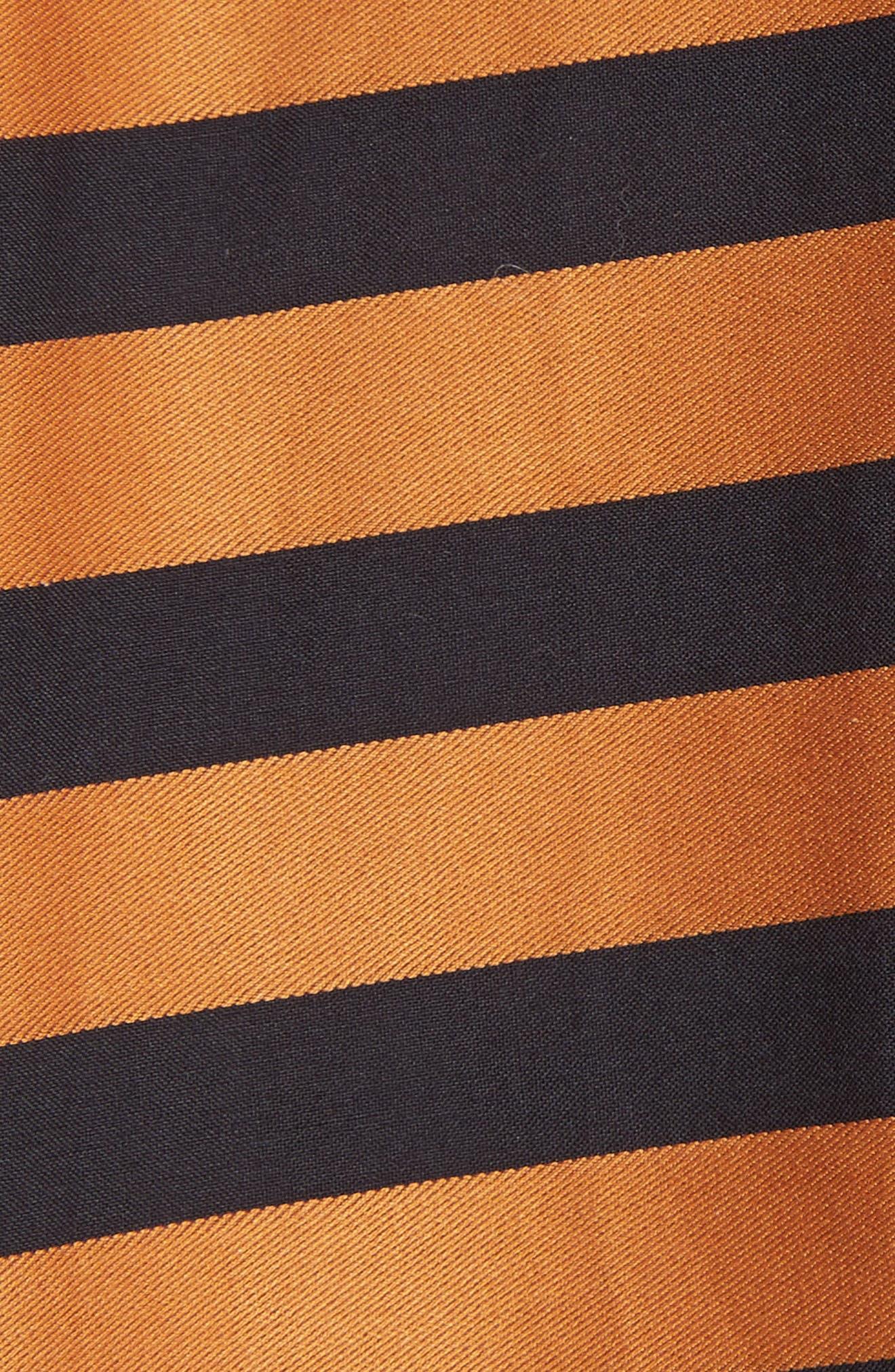Adelle Ruffle High/Low Skirt,                             Alternate thumbnail 5, color,                             Bronze Black