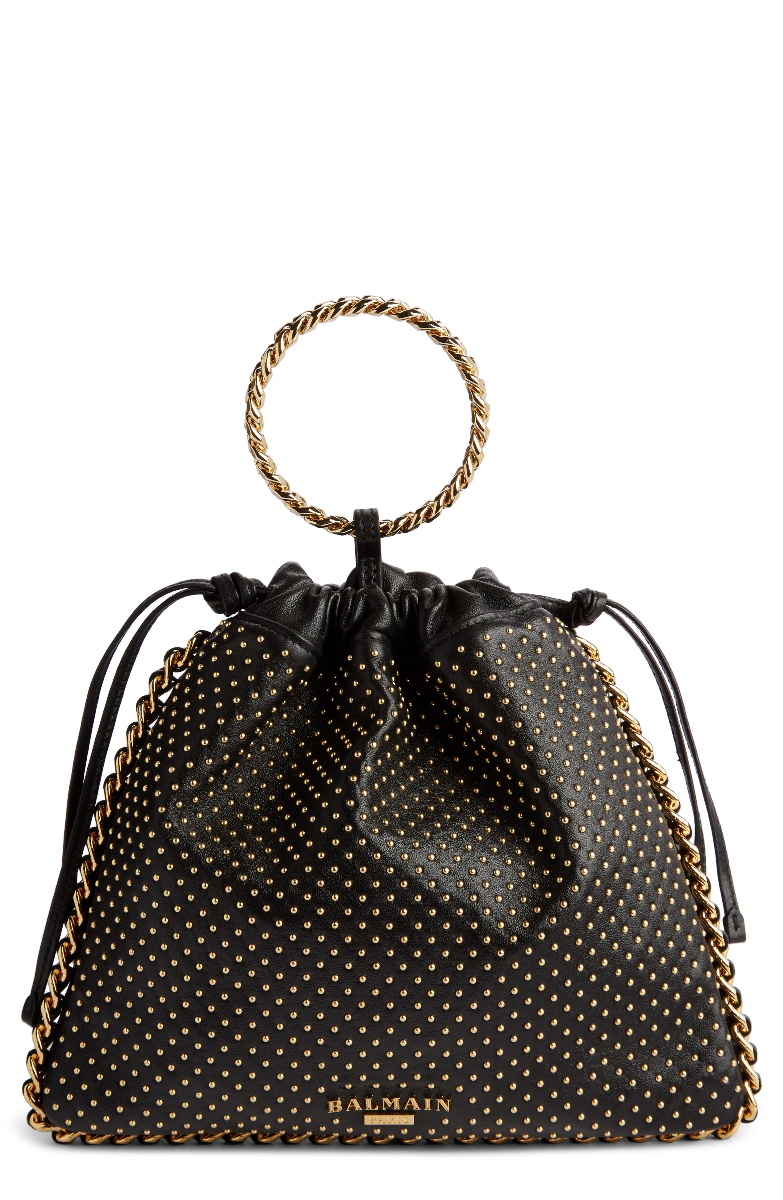 Balmain Studded Leather Bracelet Backpack