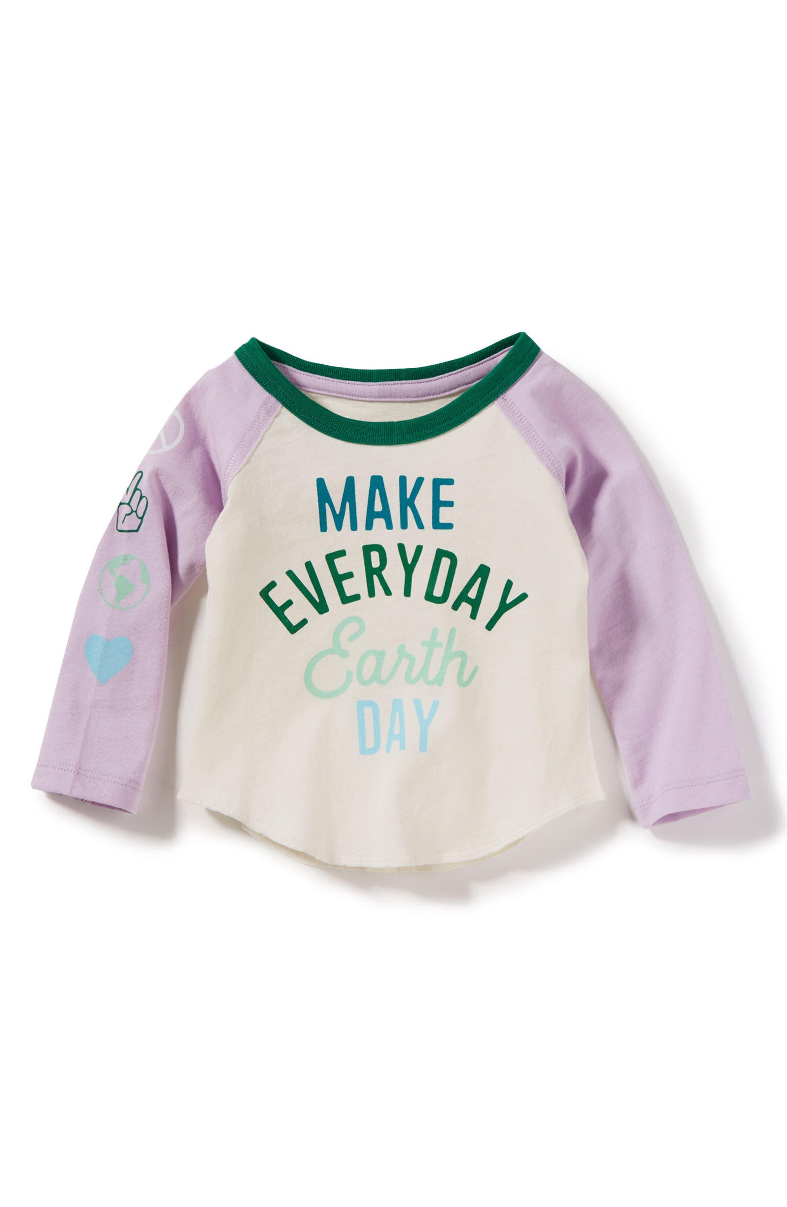 Make Every Day Earth Day Raglan Tee,                             Main thumbnail 1, color,                             Lavender