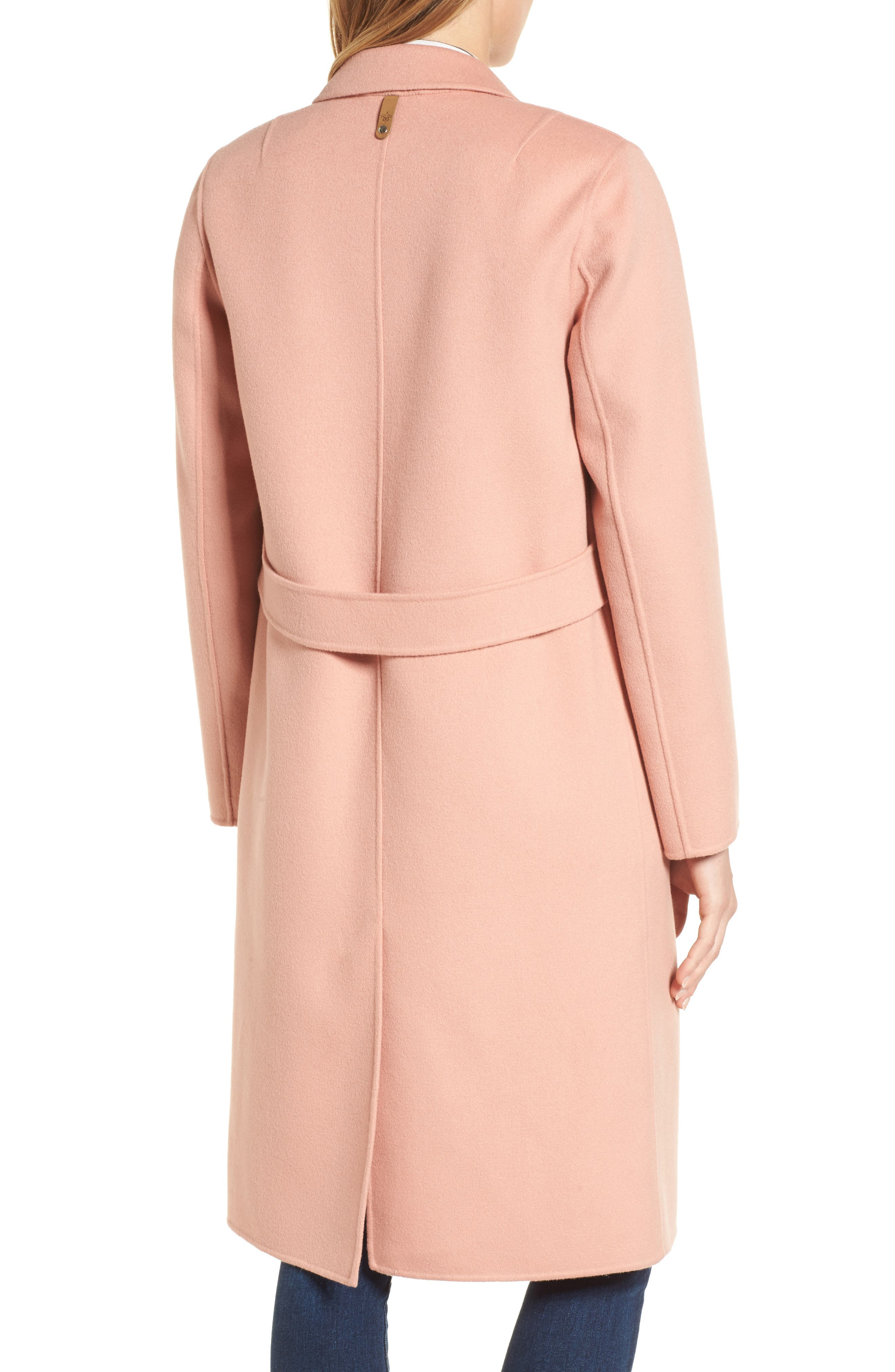Double-Face Wool Jacket,                             Alternate thumbnail 2, color,                             Peach