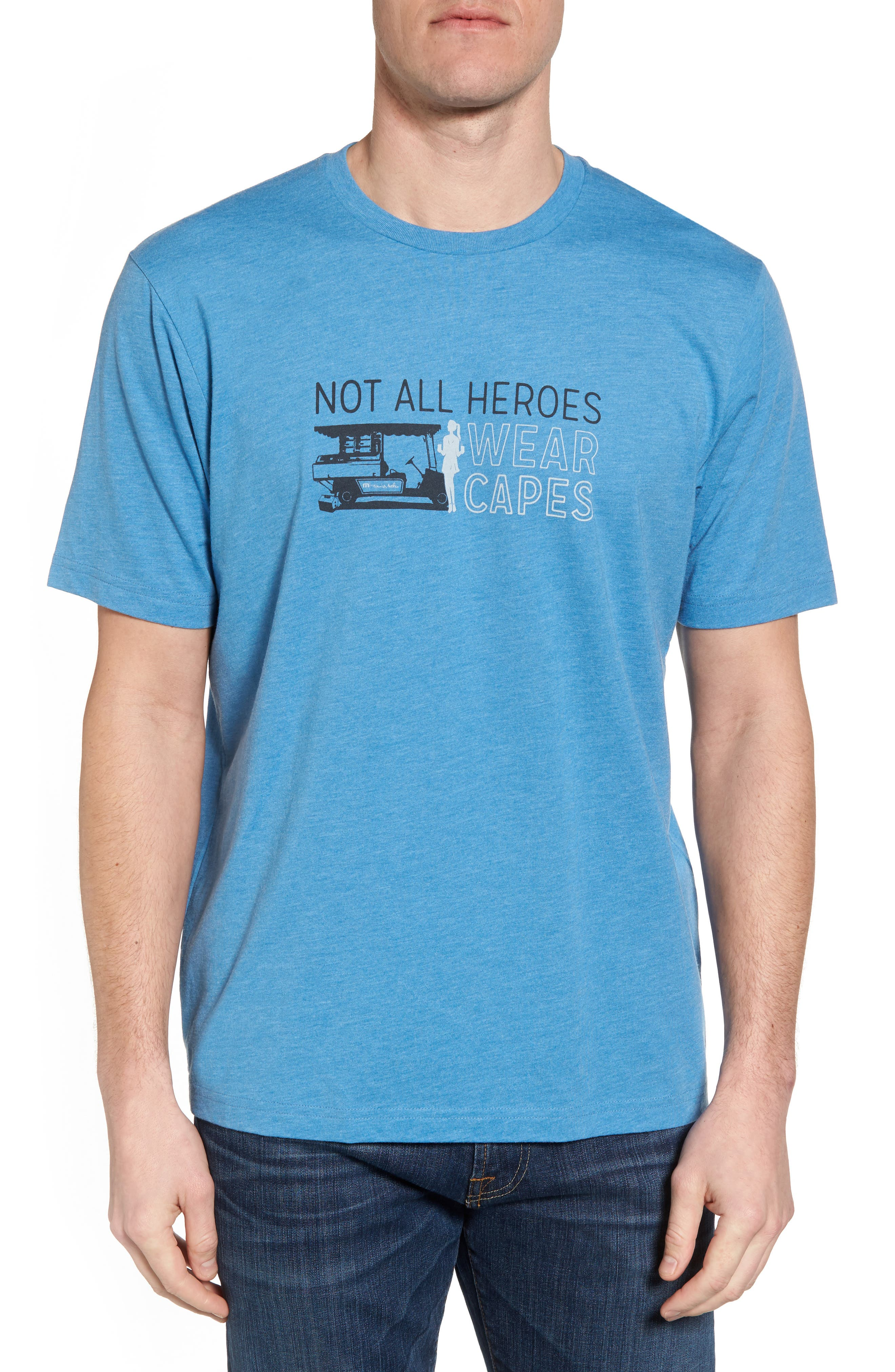 My Hero Graphic T-Shirt,                         Main,                         color, Heather Blue