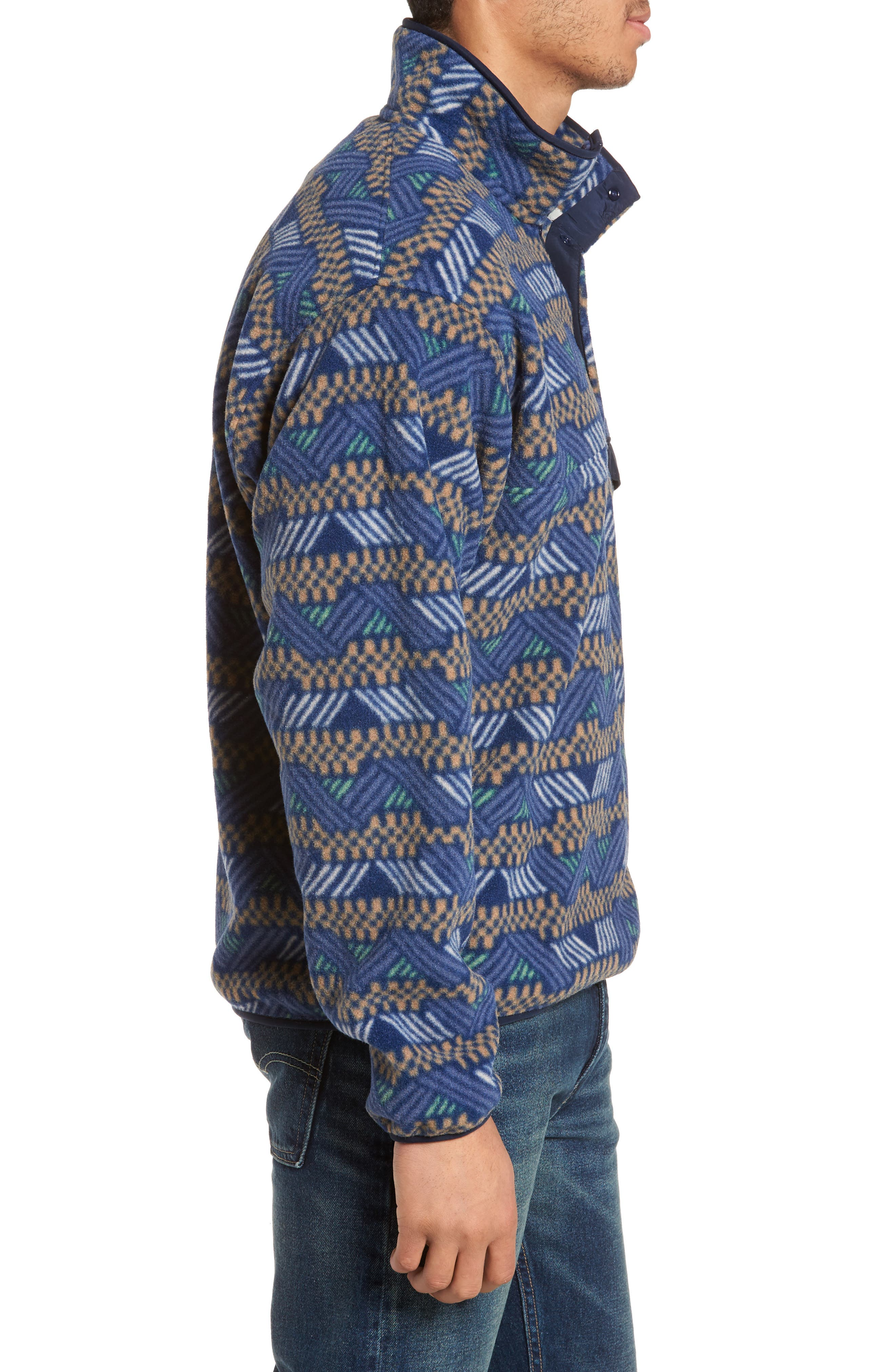 Synchilla<sup>®</sup> Snap-T<sup>®</sup> Fleece Pullover,                             Alternate thumbnail 5, color,                             Classic Navy