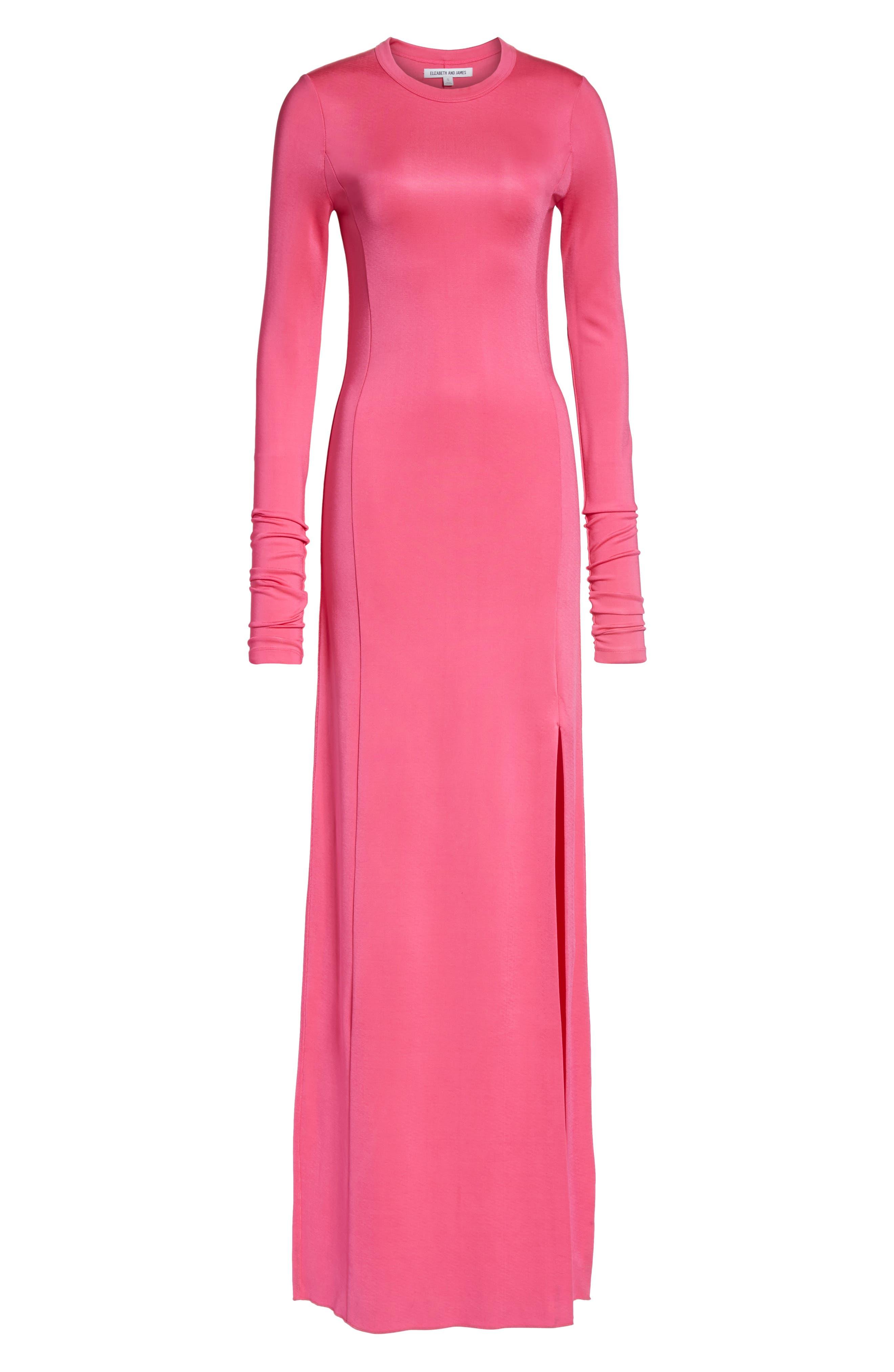 Fallon Slit Skirt Jersey Maxi Dress,                             Alternate thumbnail 7, color,                             Flamingo