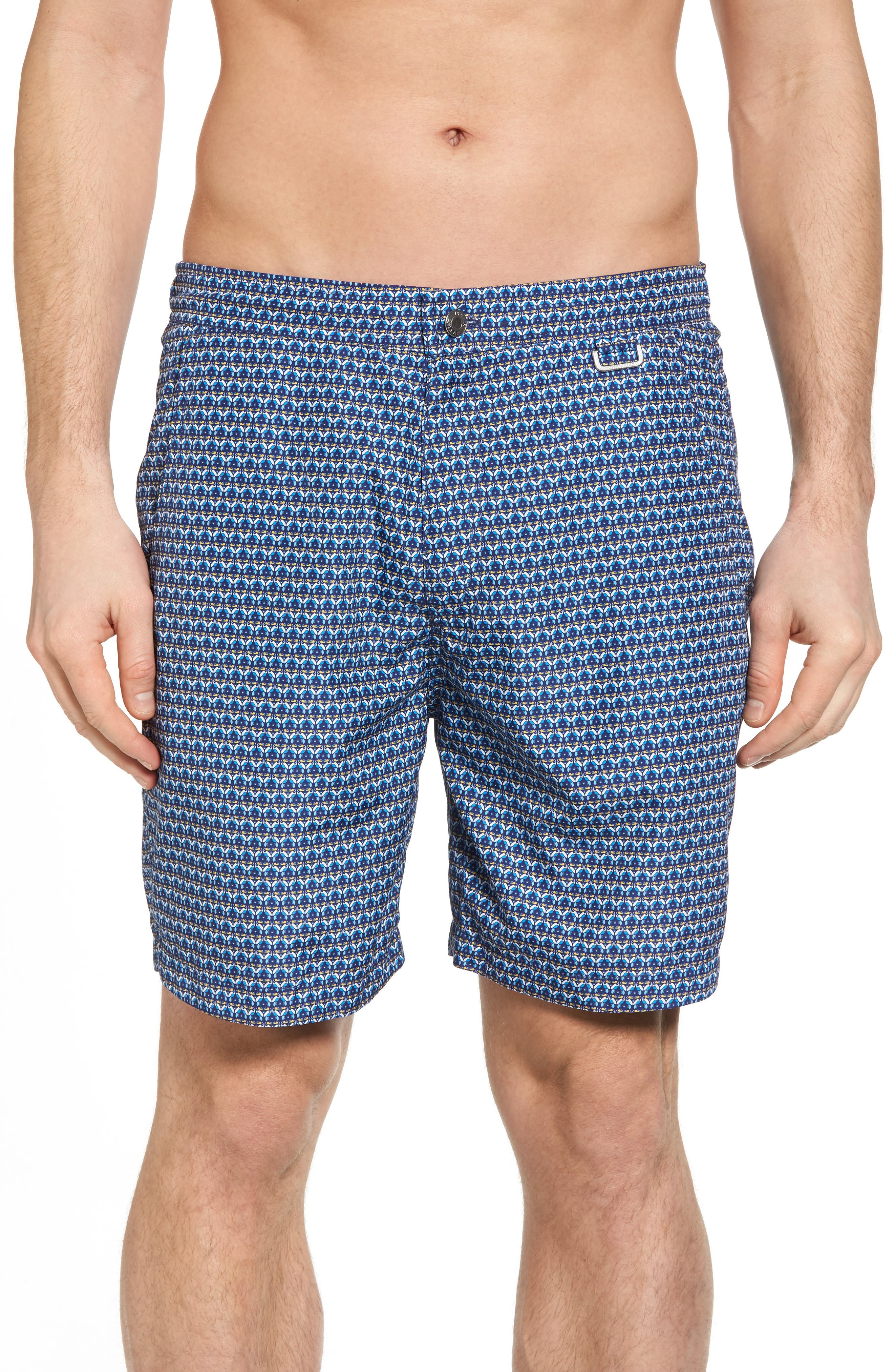 Peter Millar Two Can Too Swim Trunks,                         Main,                         color, Barchetta