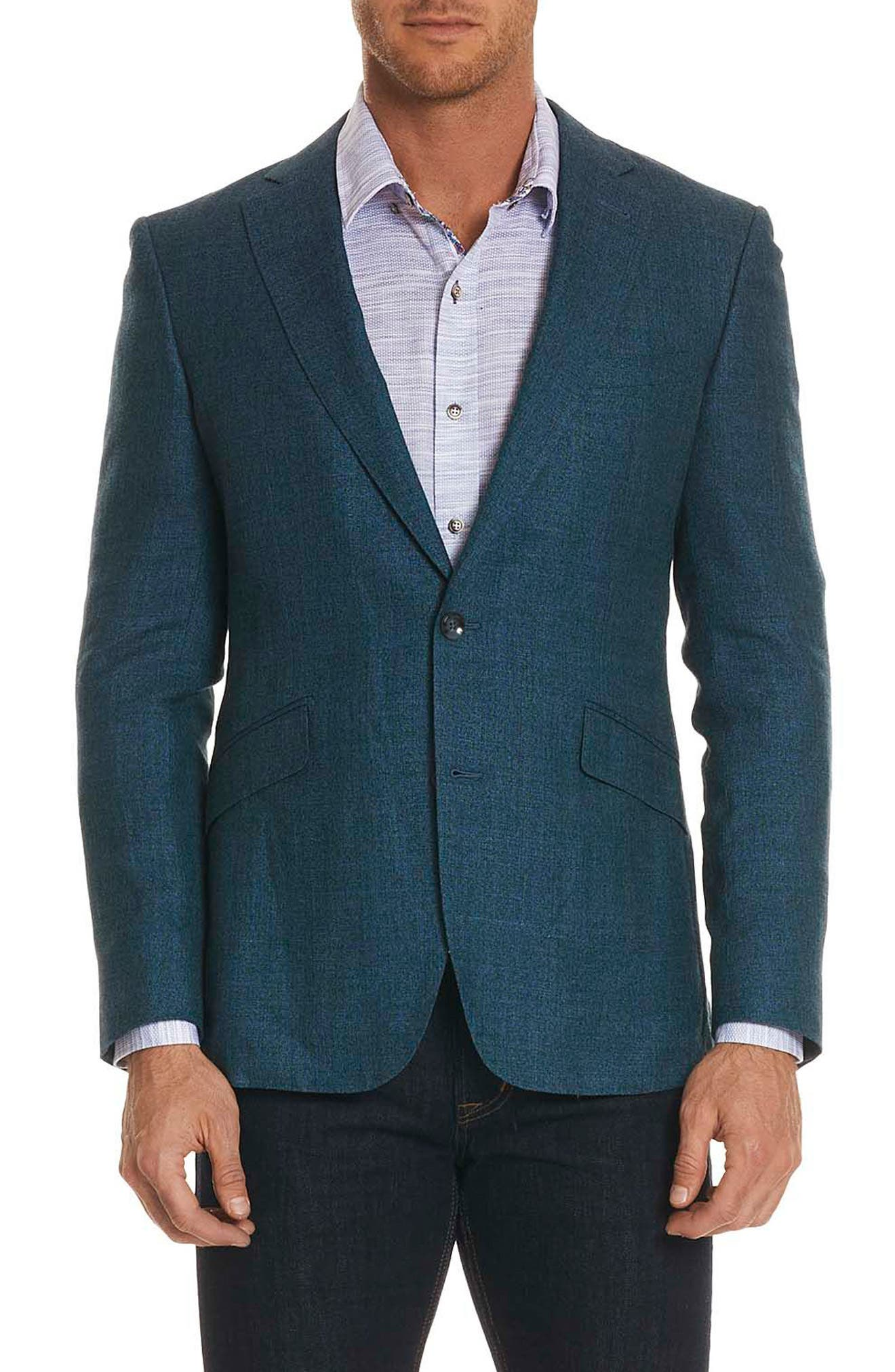 Brennan Woven Sport Coat,                         Main,                         color, Forest