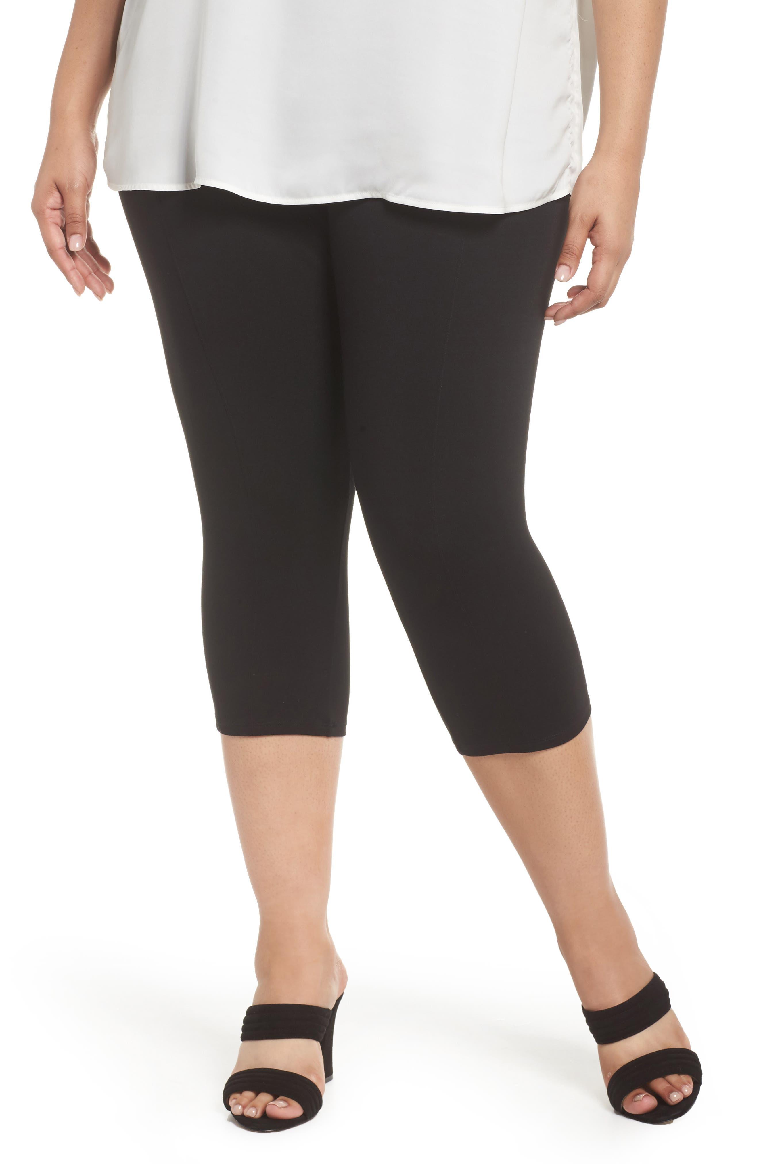 Taylor Capri Leggings,                         Main,                         color, Black