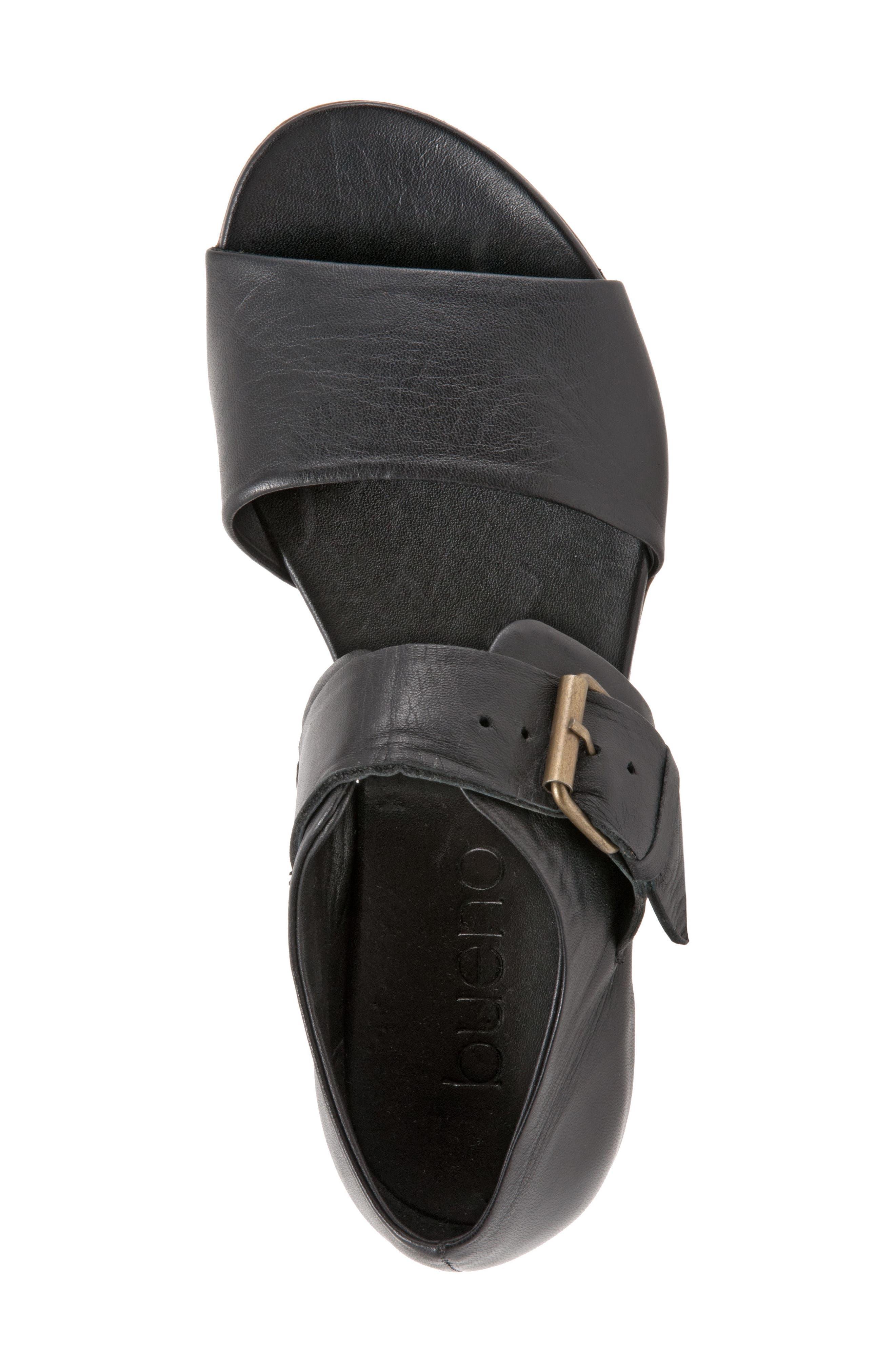 Talia Sandal,                             Alternate thumbnail 7, color,                             Black Leather