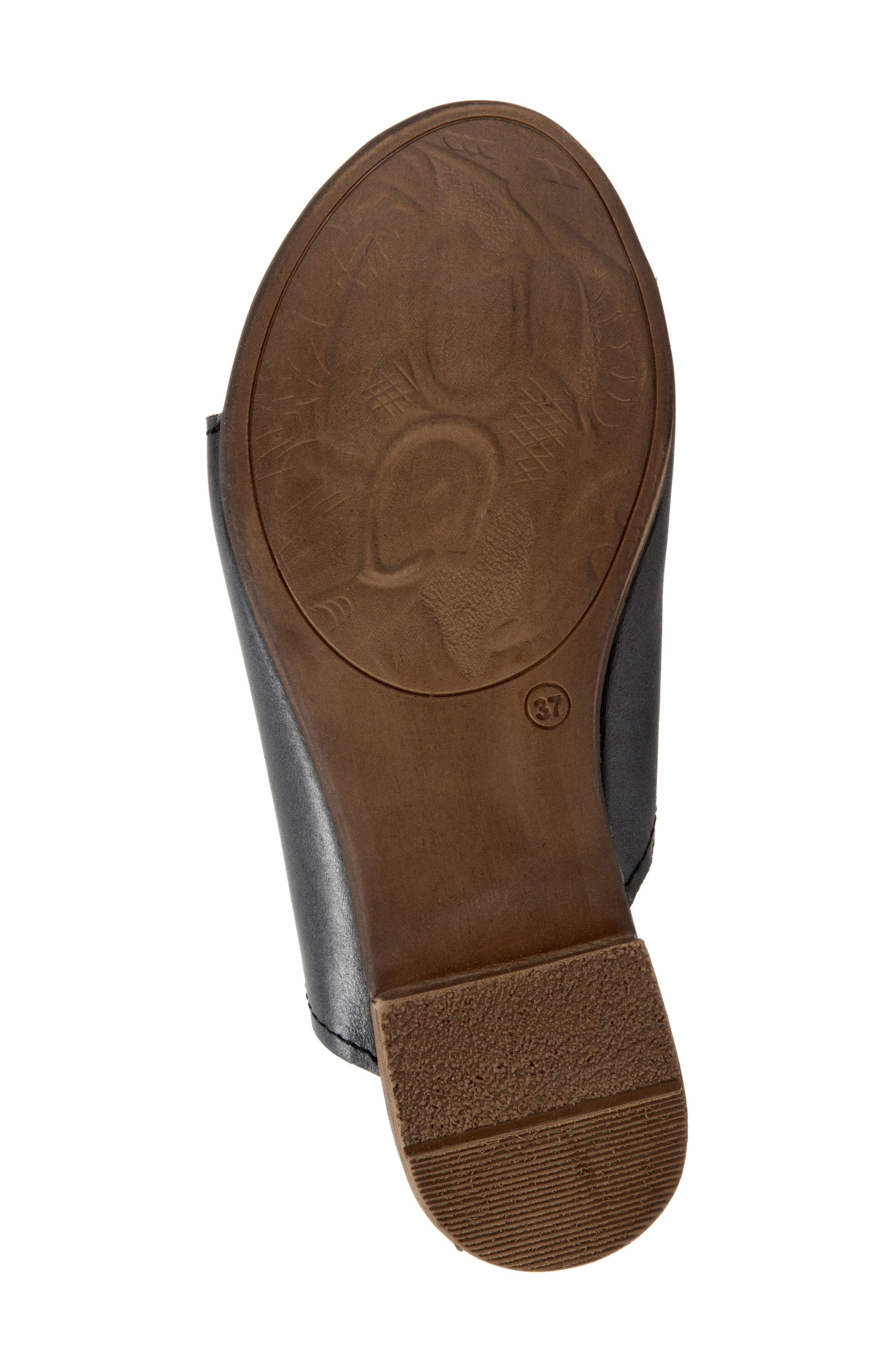 Tulla Sandal,                             Alternate thumbnail 6, color,                             Black Leather