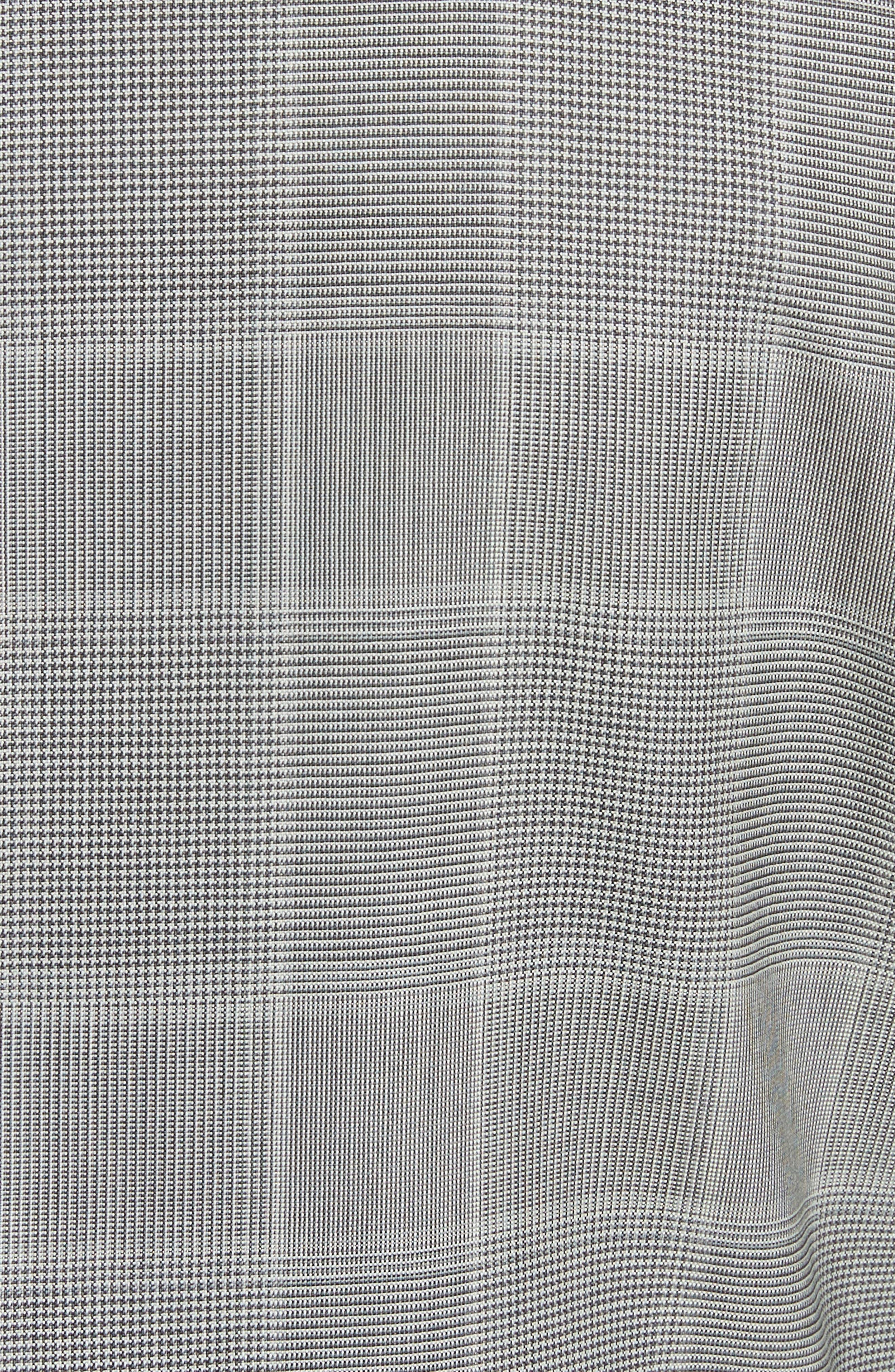 Classic Fit Plaid Wool Suit,                             Alternate thumbnail 7, color,                             Grey