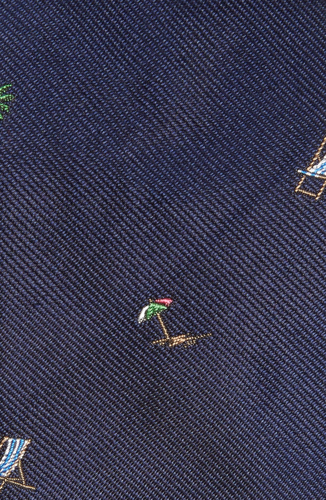 Vacation Silk Tie,                             Alternate thumbnail 2, color,                             Navy