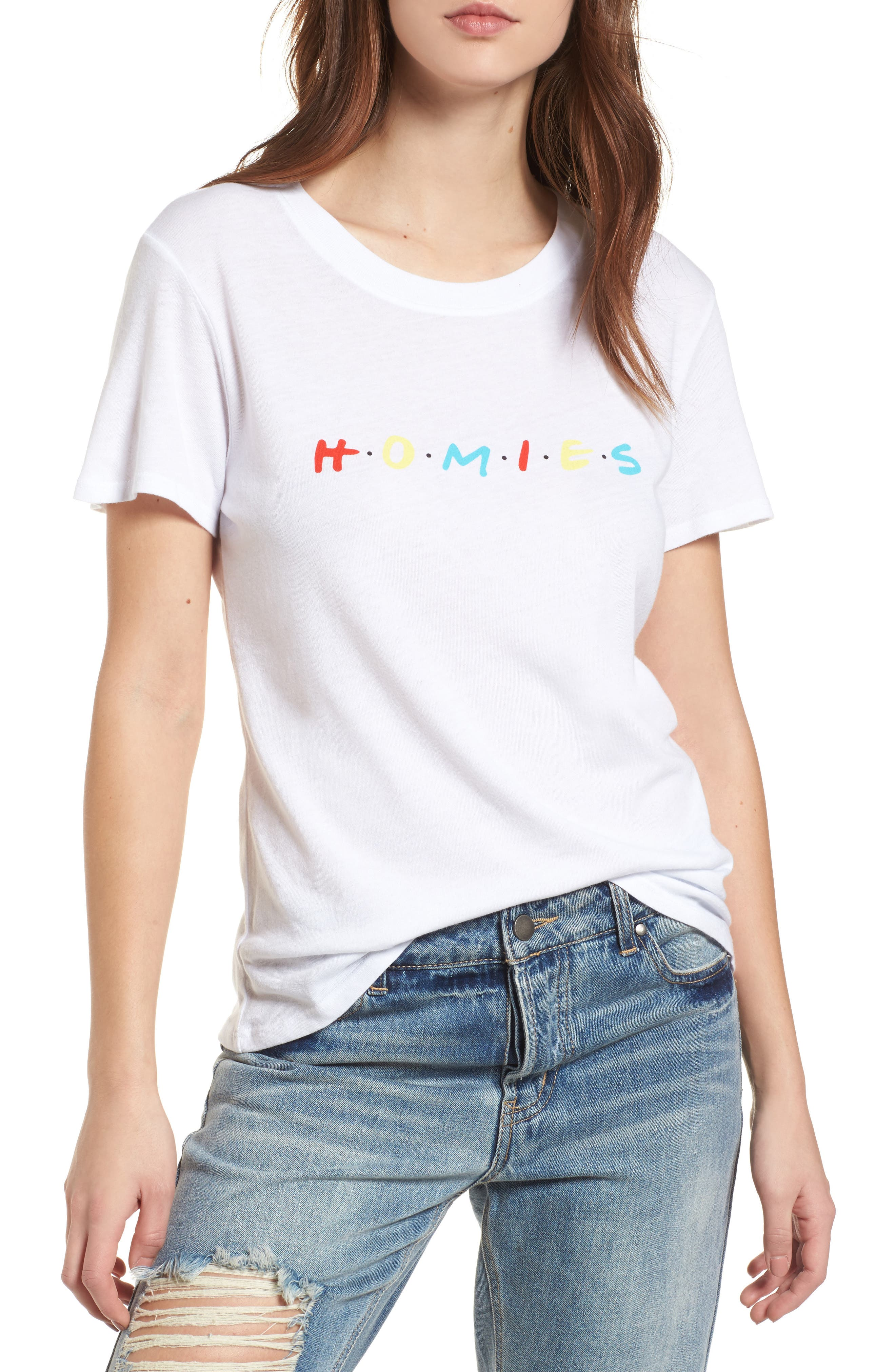 Homies Graphic Tee,                         Main,                         color, White