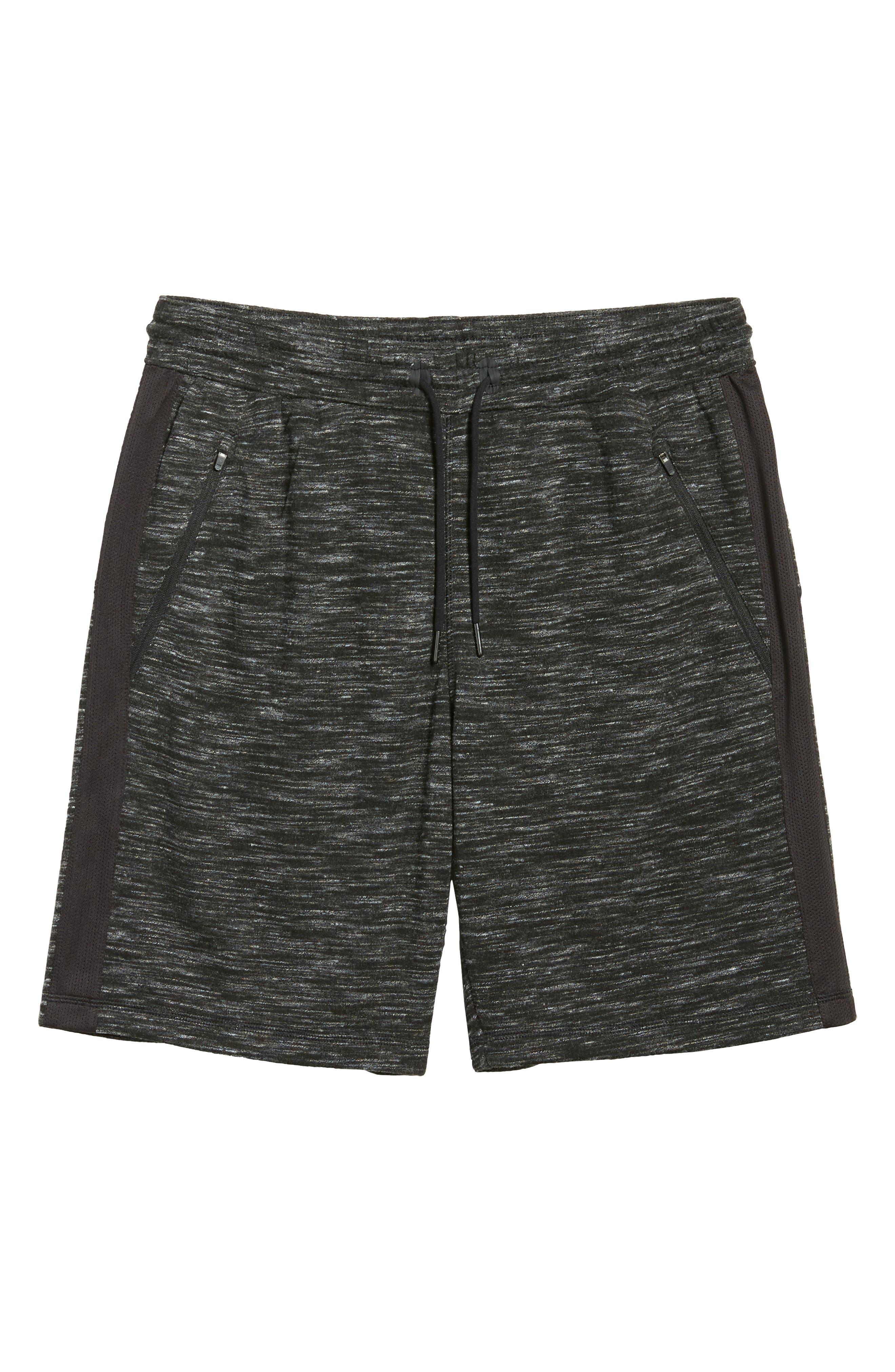 Neptune Terrycloth Shorts,                             Alternate thumbnail 6, color,                             Black Oxide Melange