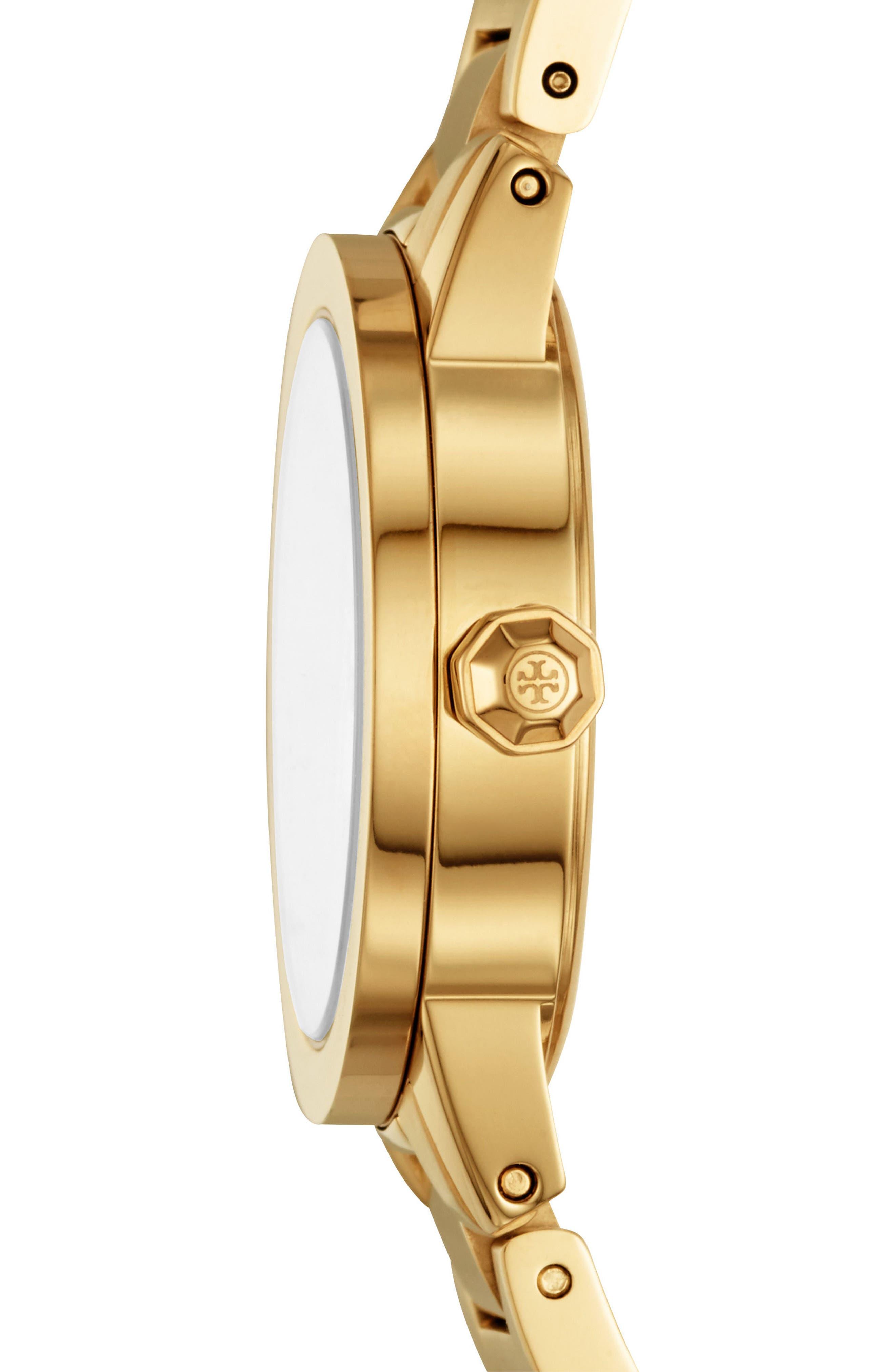 Gigi Bracelet Watch, 28mm,                             Alternate thumbnail 2, color,                             Gold/ Cream/ Gold
