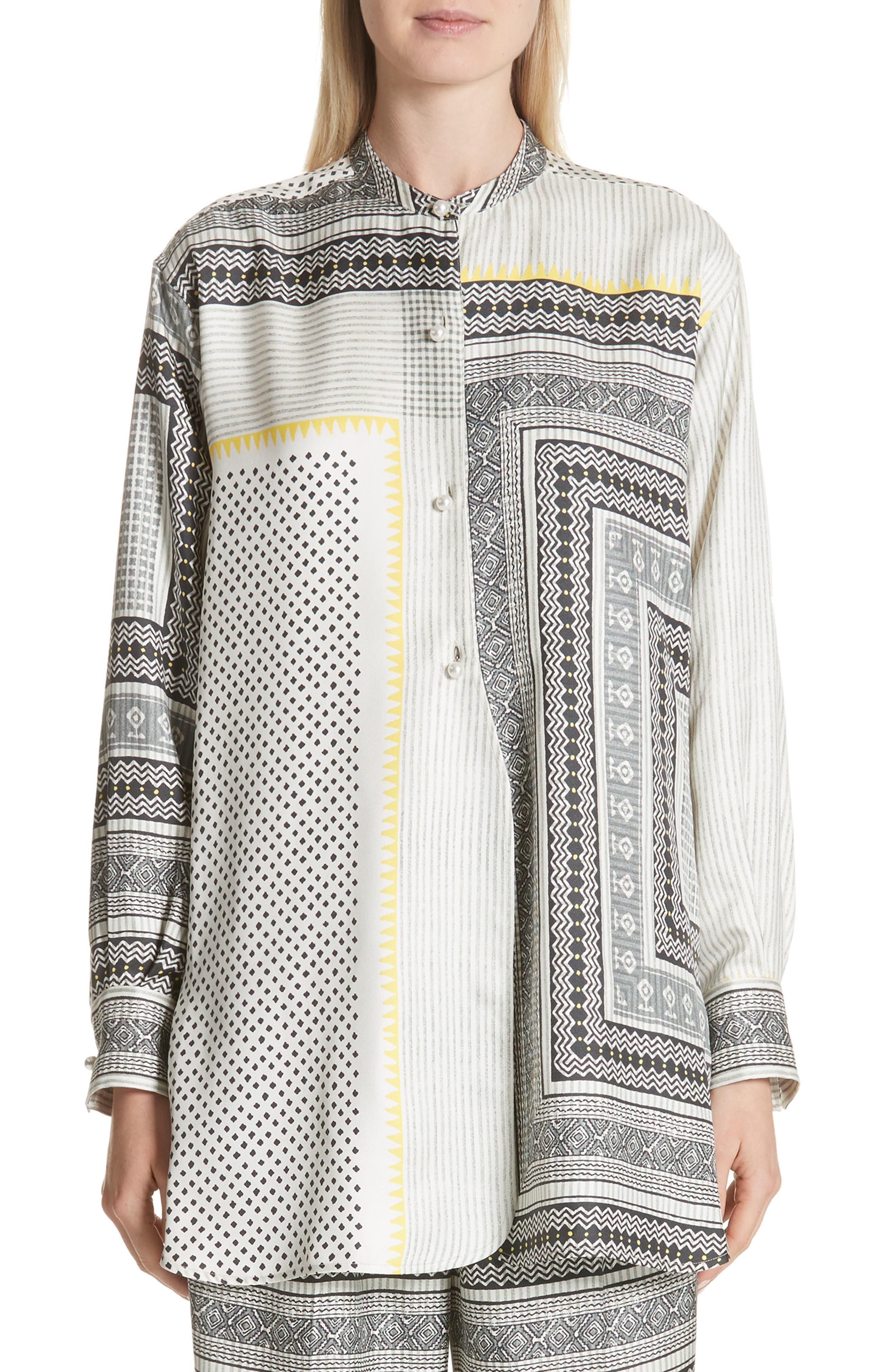 Main Image - Etro Pearl Button Silk Top