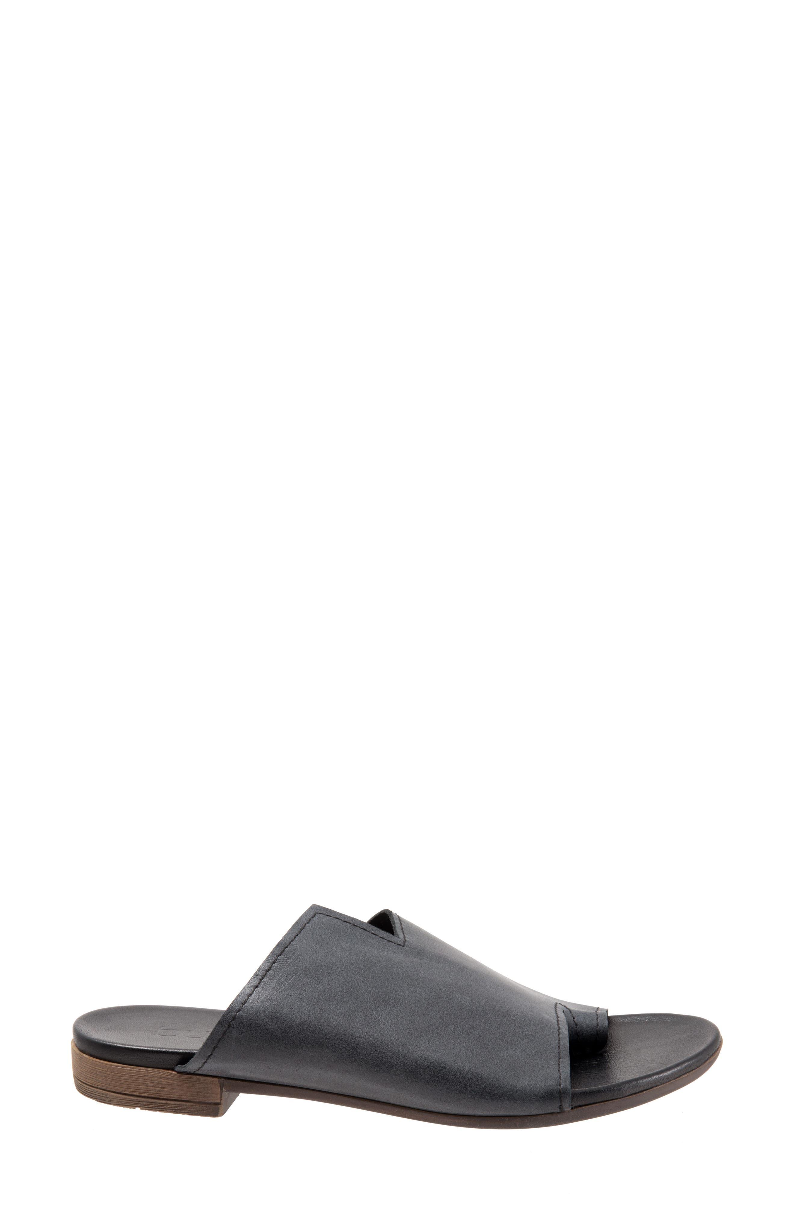 Tulla Sandal,                             Alternate thumbnail 3, color,                             Black Leather
