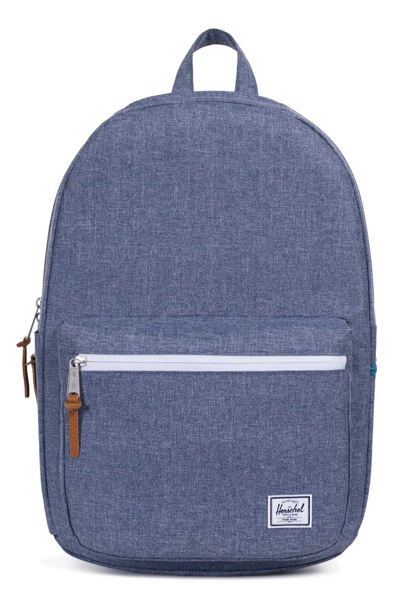 Harrison Backpack,                         Main,                         color, Dark Chambray Crosshatch