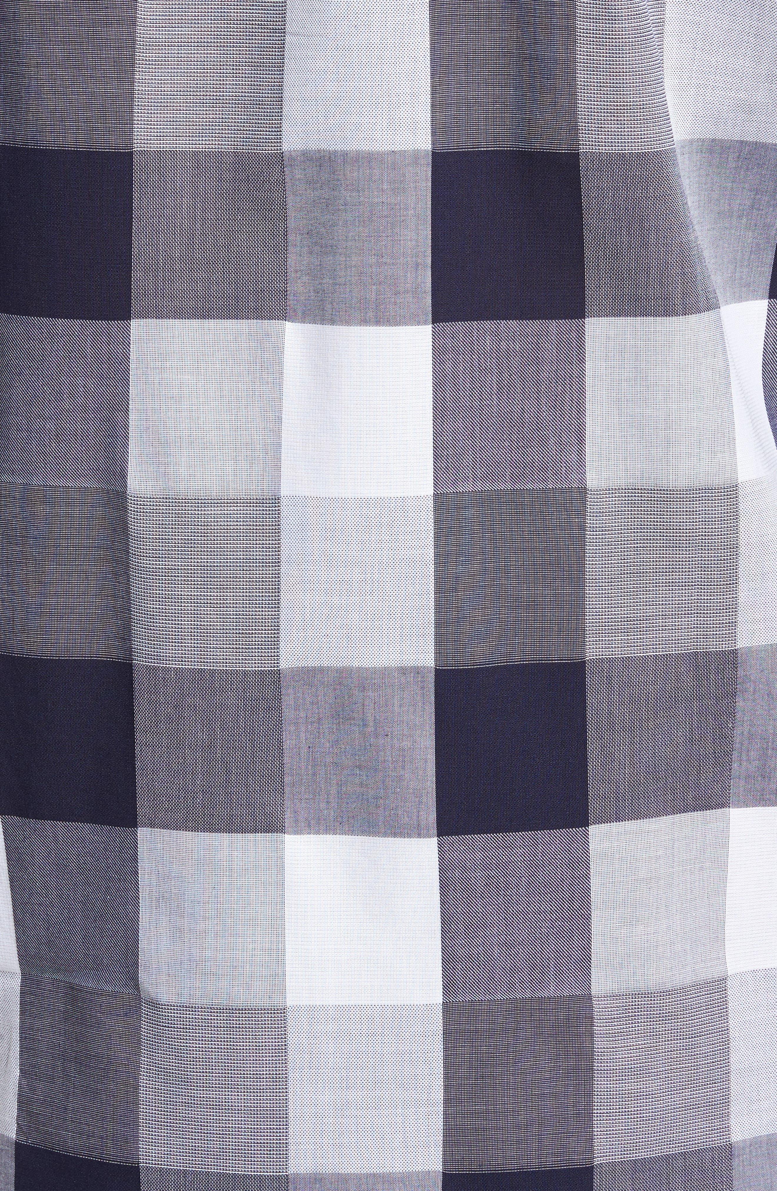 Unbutton Down 2.0 Slim Fit Buffalo Check Sport Shirt,                             Alternate thumbnail 5, color,                             Thomas Check - Maritime Blue