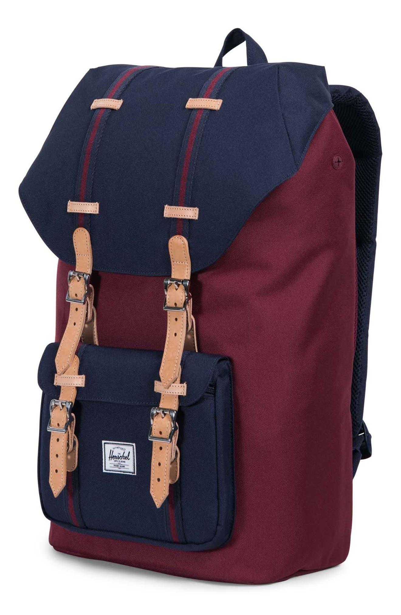 Little America Backpack,                             Alternate thumbnail 4, color,                             Windsor Wine/